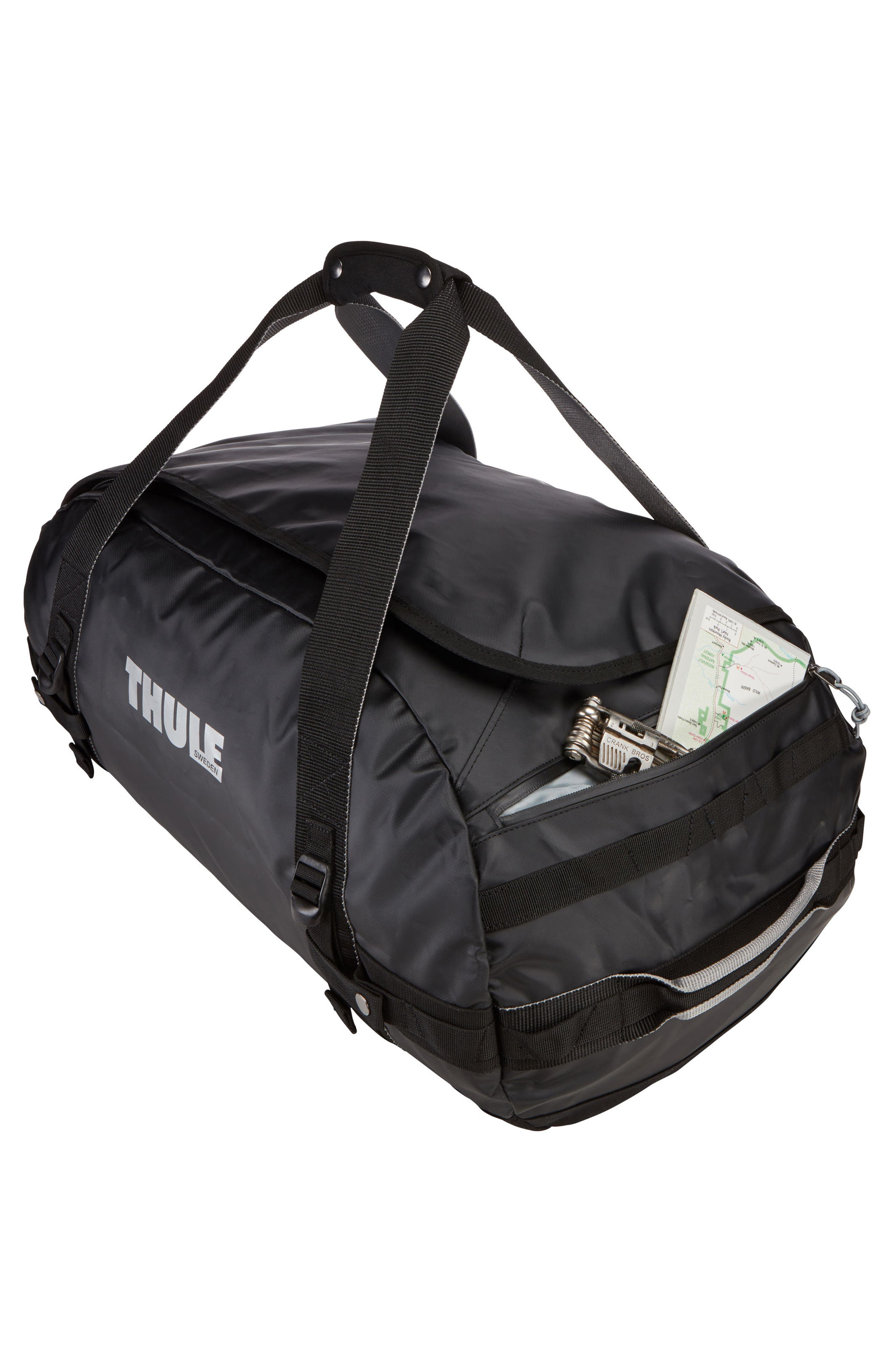 Chasm 70-Liter Convertible Duffel Bag,                             Alternate thumbnail 6, color,                             BLACK