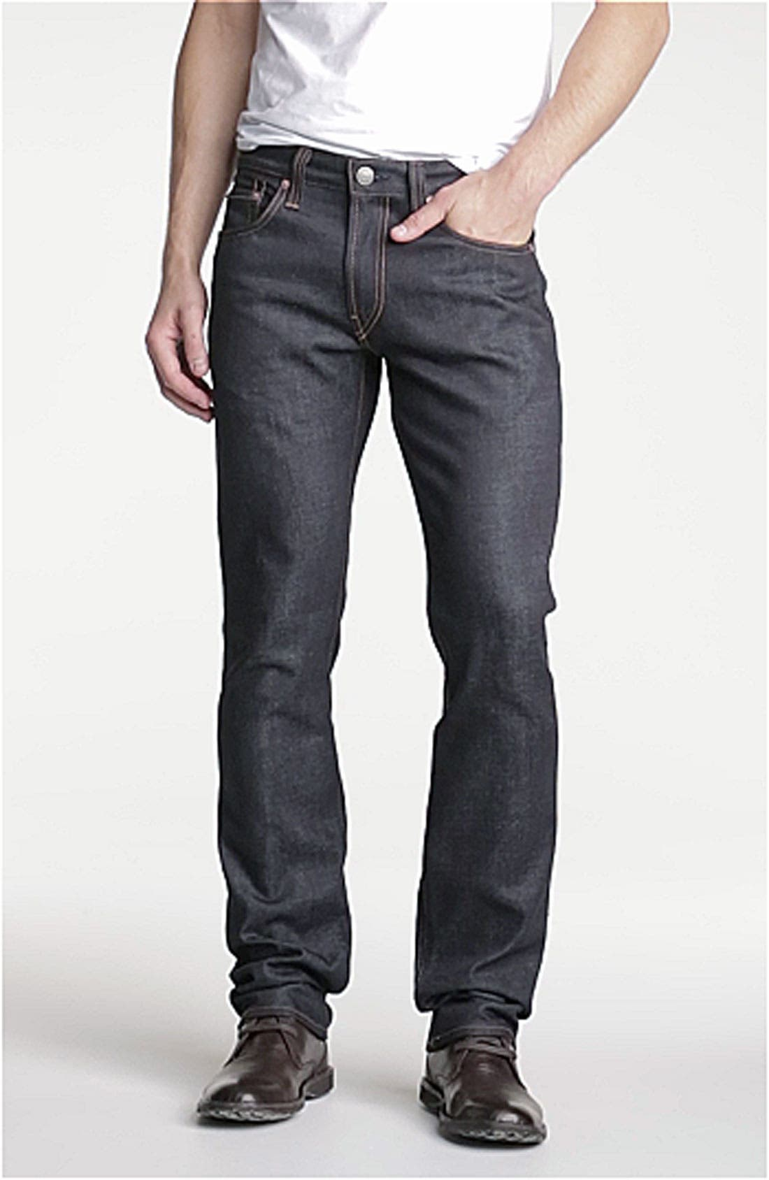 Kane Slim Straight Leg Jeans,                             Alternate thumbnail 8, color,                             RAW