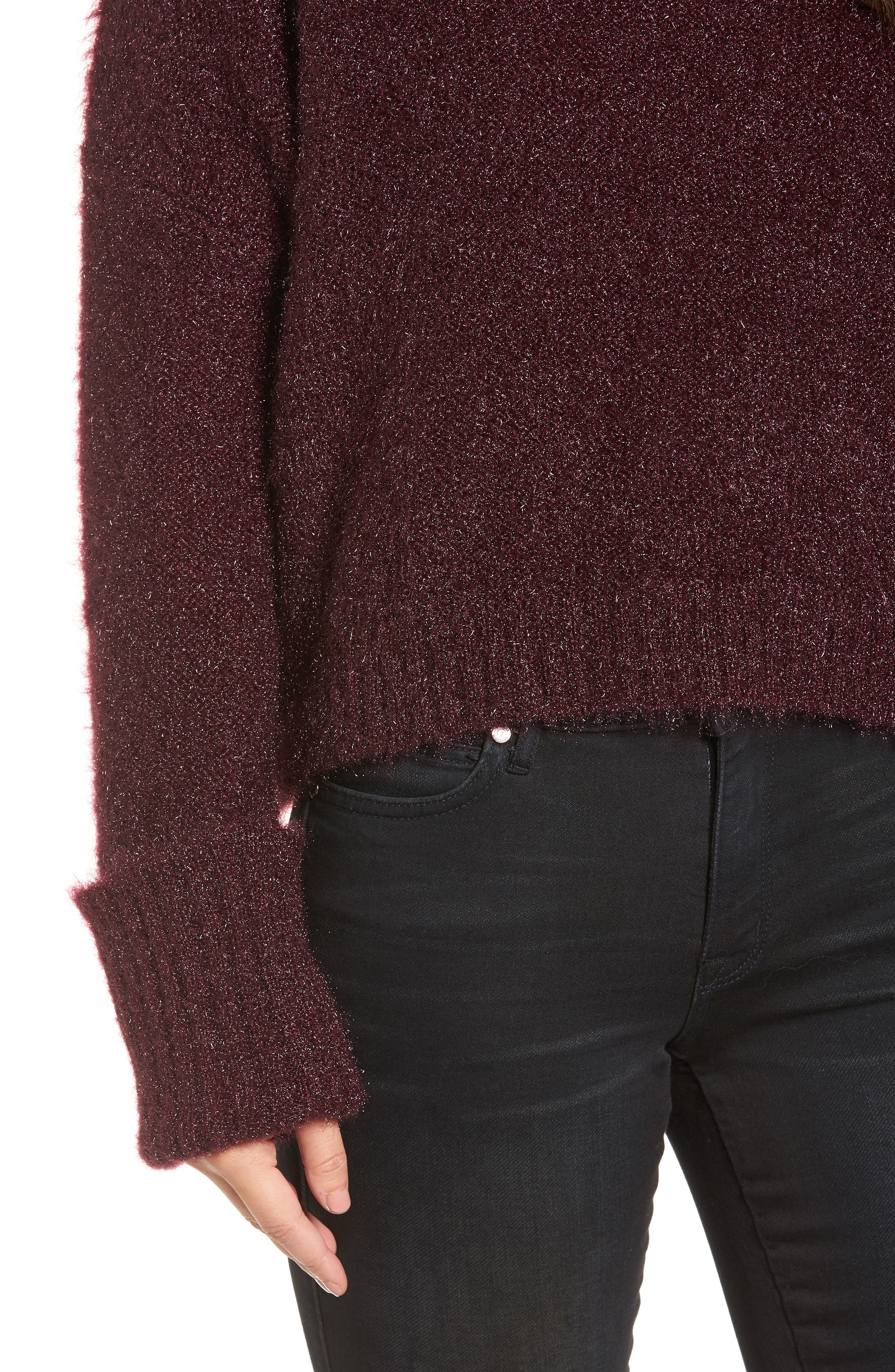 Large Cuff Crop Sweater,                             Alternate thumbnail 8, color,