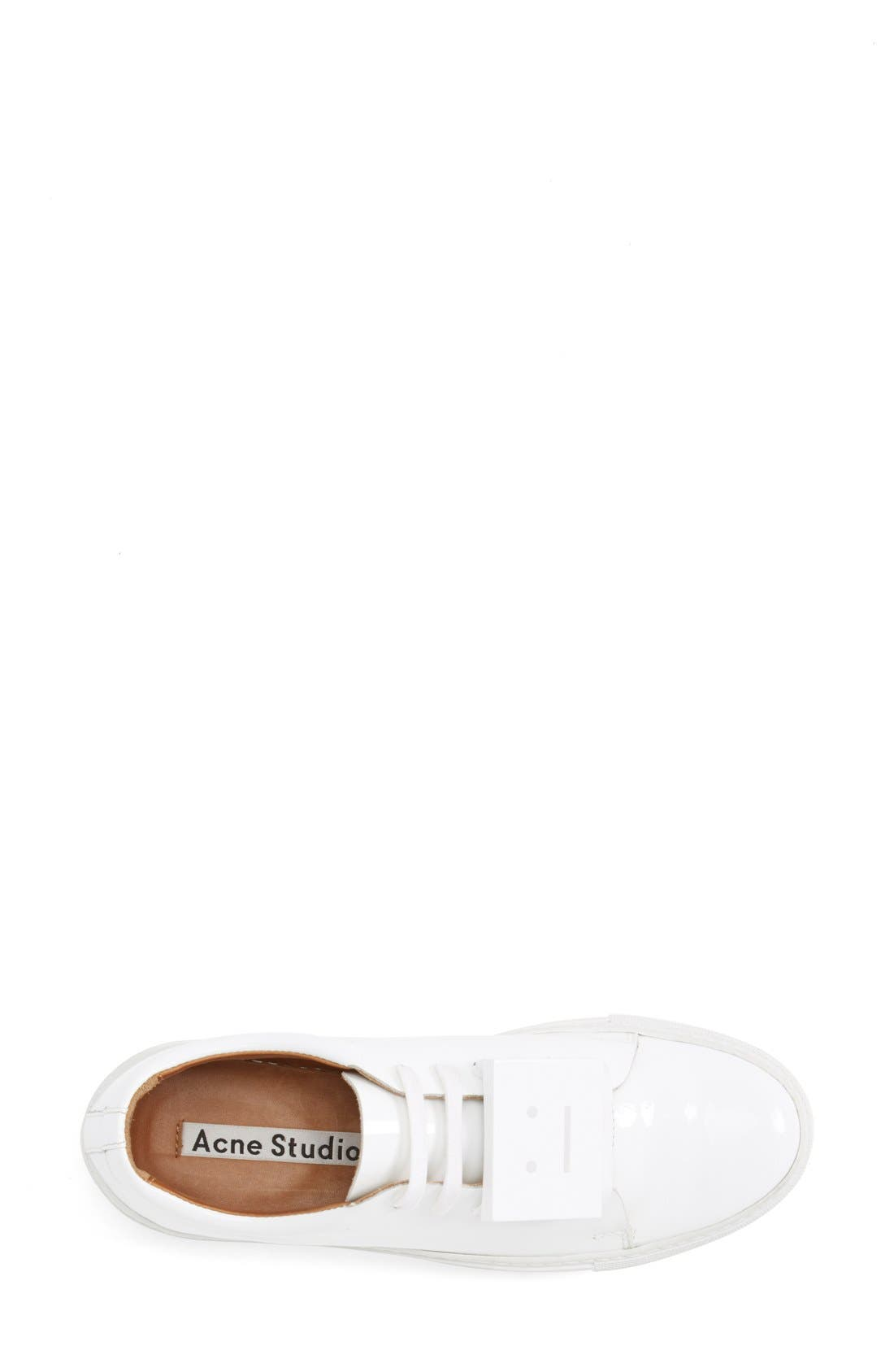 Adriana Leather Sneaker,                             Alternate thumbnail 3, color,                             100