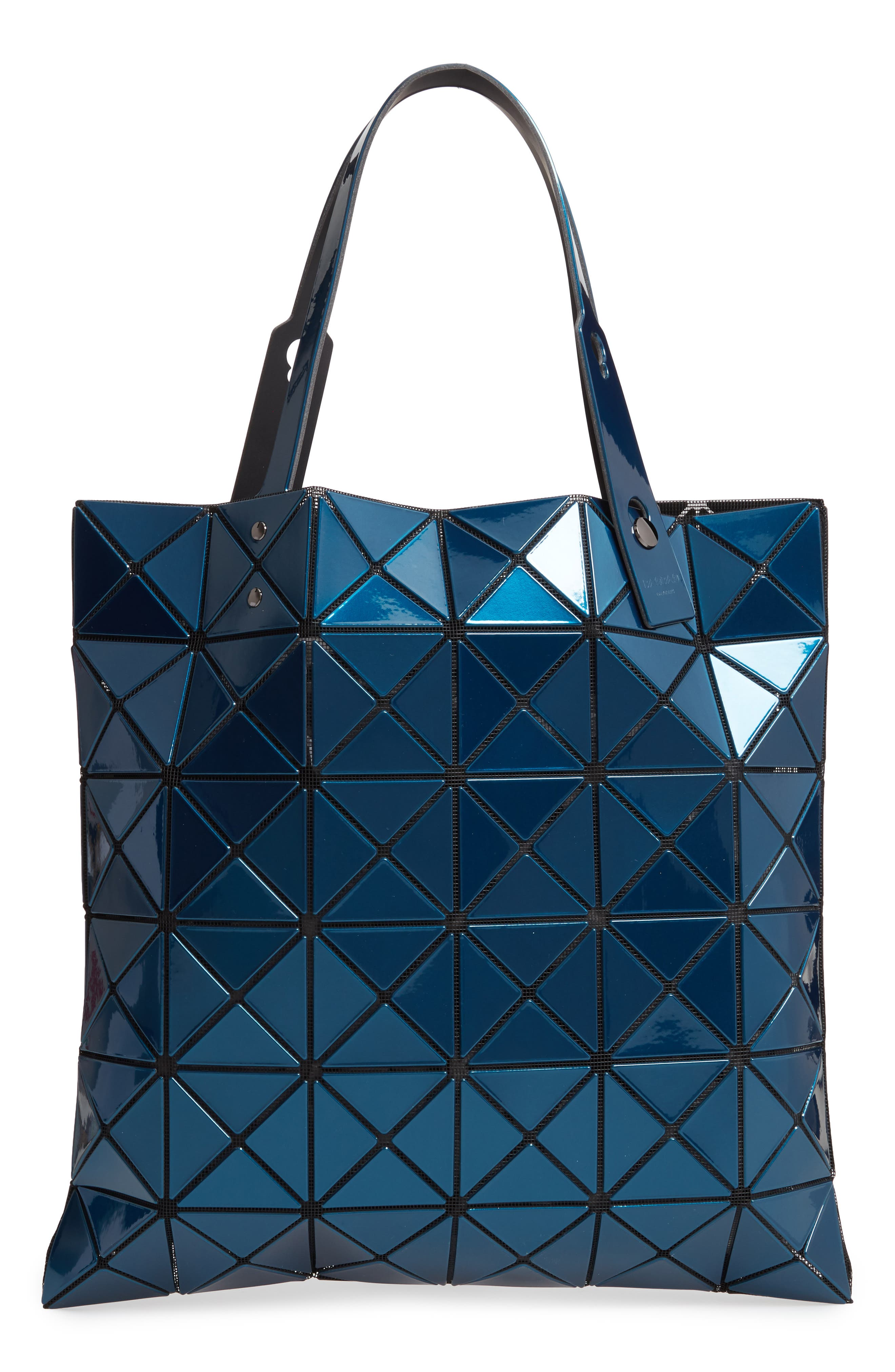 Lucent Metallic Tote Bag - Blue
