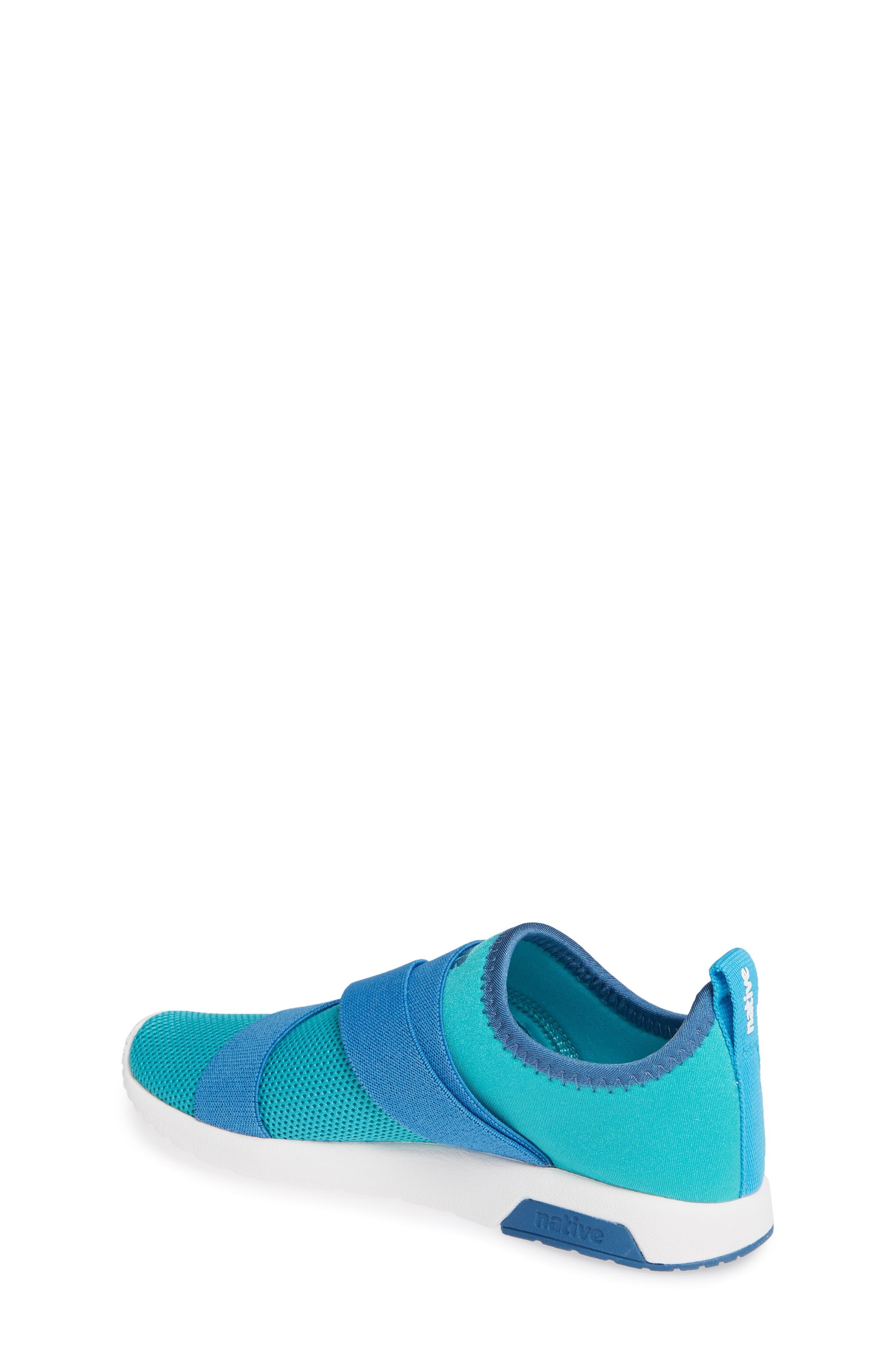 NATIVE SHOES,                             Phoenix Slip-On Vegan Sneaker,                             Alternate thumbnail 2, color,                             GLACIER GREEN/ BLUE/ WHITE