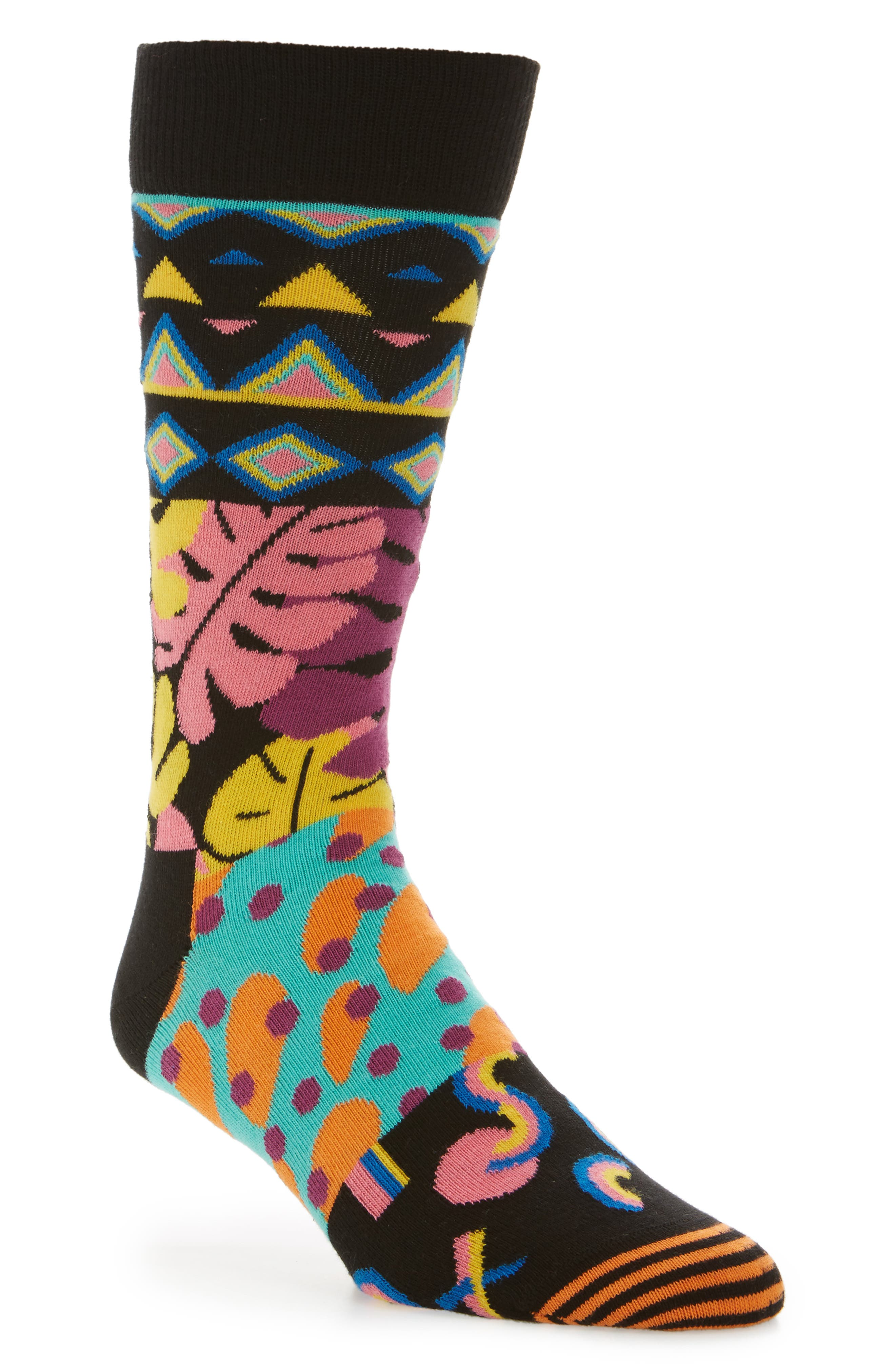 Mix Max Pattern Socks,                             Main thumbnail 1, color,                             009