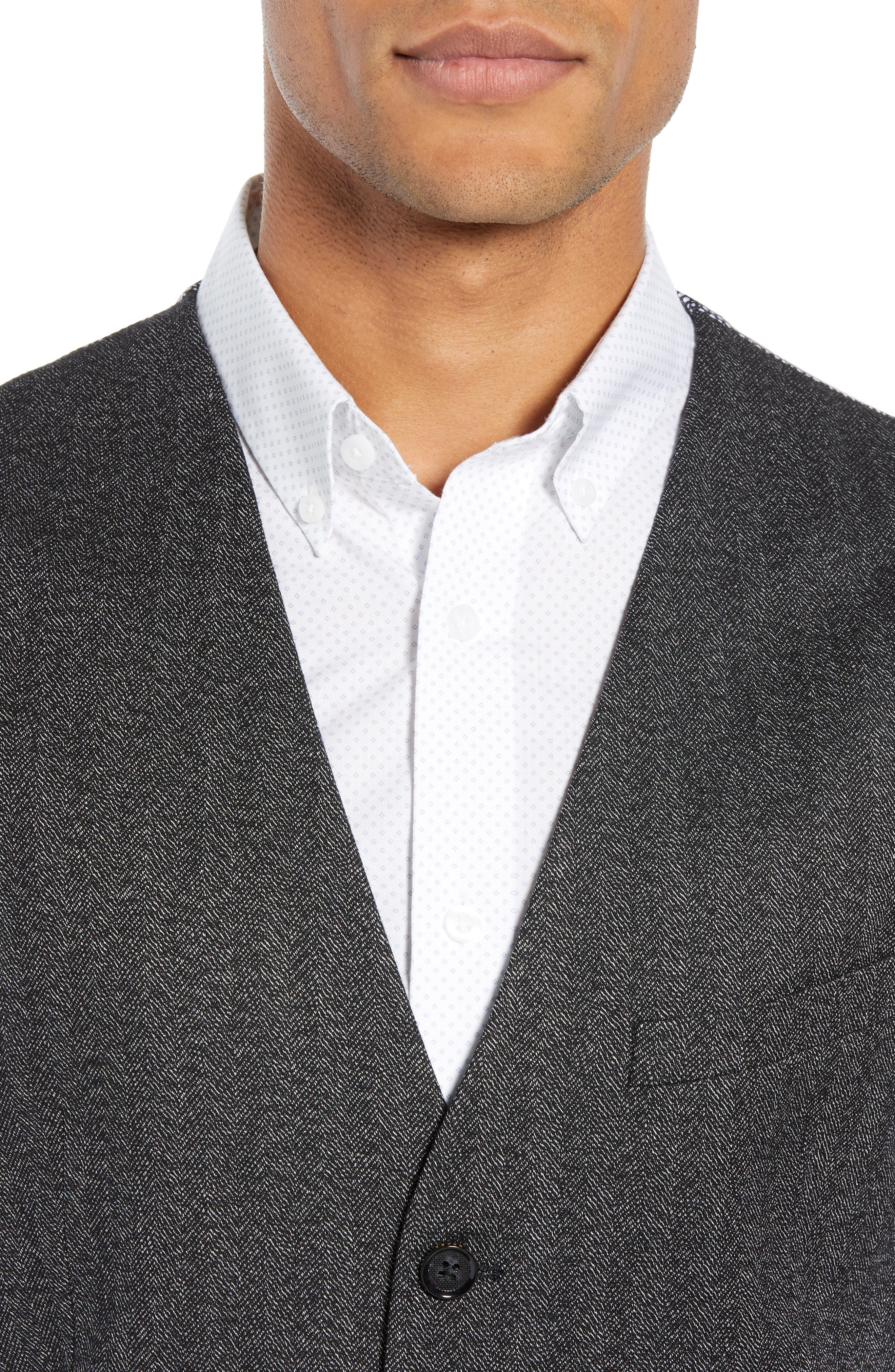 Wenswai Slim Vest,                             Alternate thumbnail 4, color,                             CHARCOAL