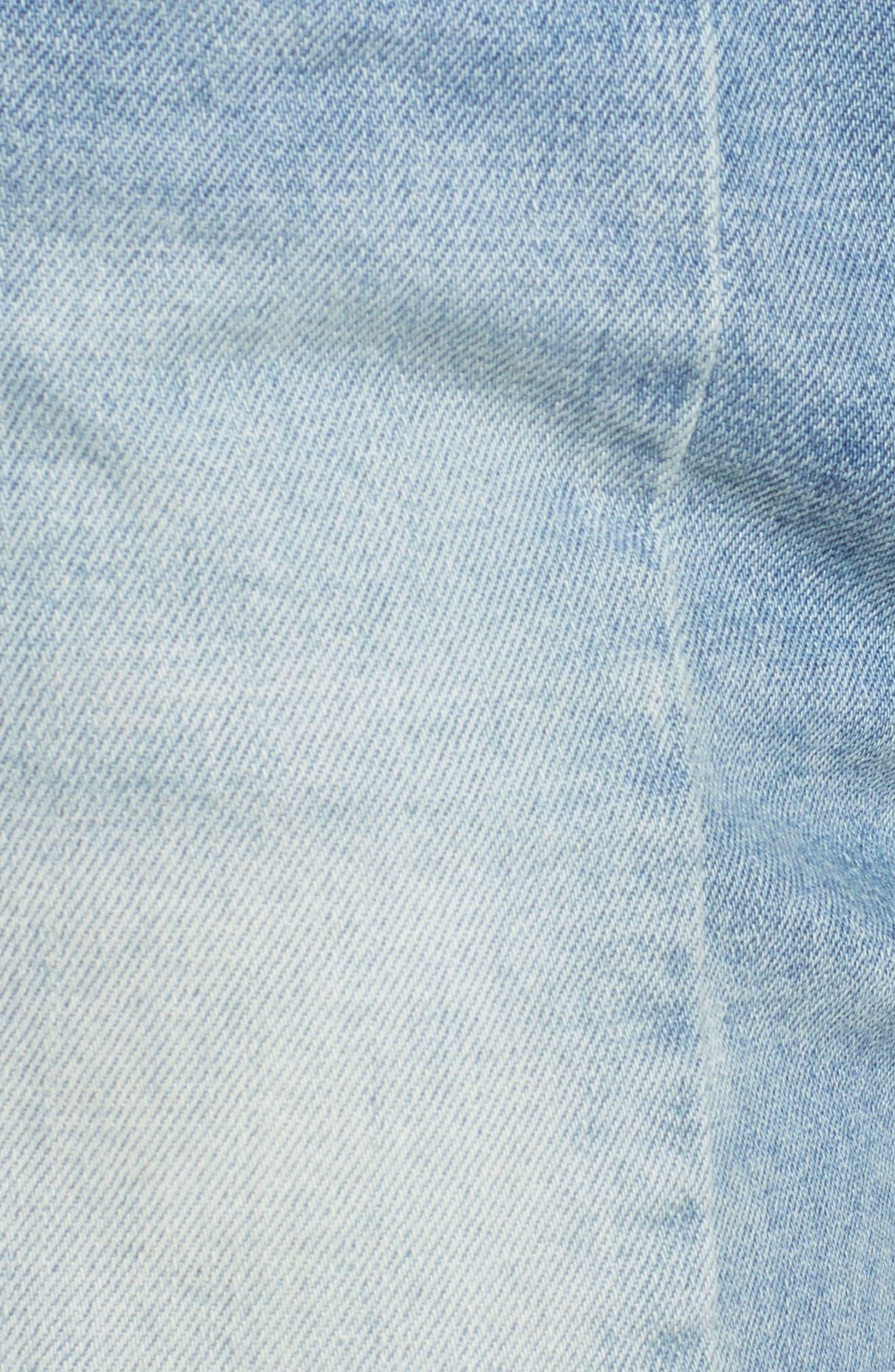 The Essex Paneled Denim Shorts,                             Alternate thumbnail 6, color,                             400