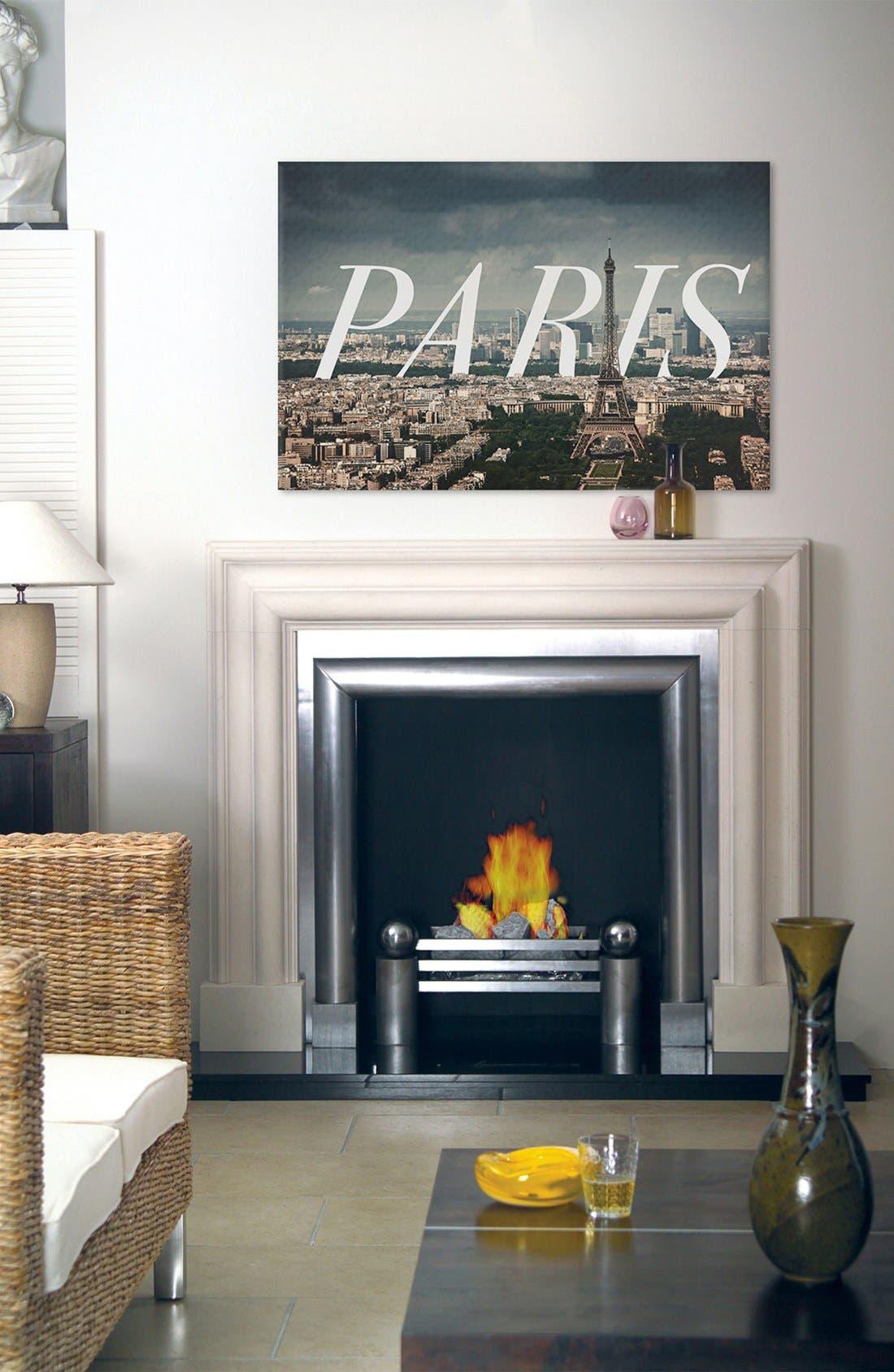 'Paris' Giclée Print Canvas Art,                             Alternate thumbnail 2, color,                             GREY