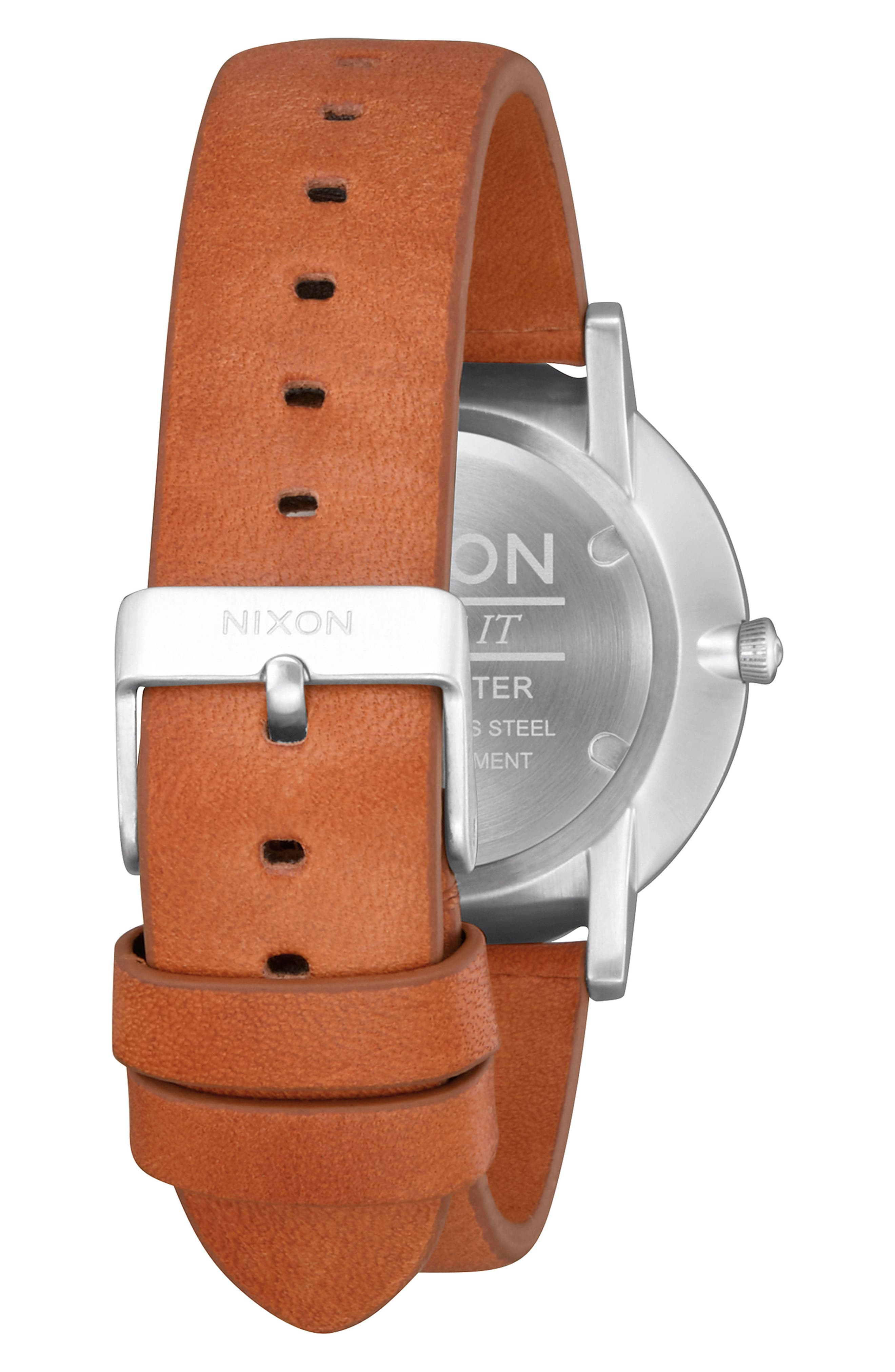 Porter Round Leather Strap Watch, 40mm,                             Alternate thumbnail 12, color,