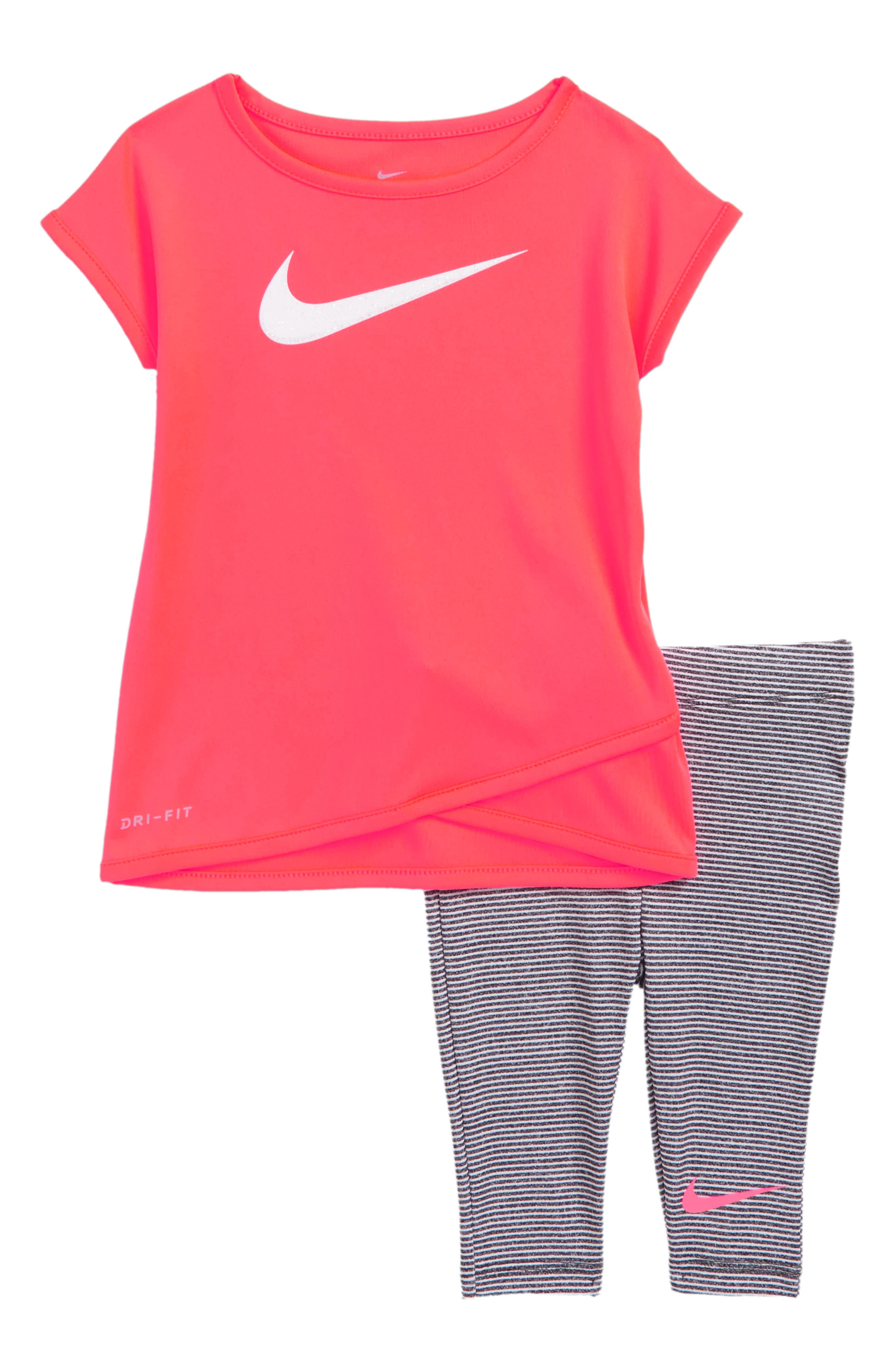 Sport Essentials Dry Tee & Leggings Set,                             Main thumbnail 1, color,                             033