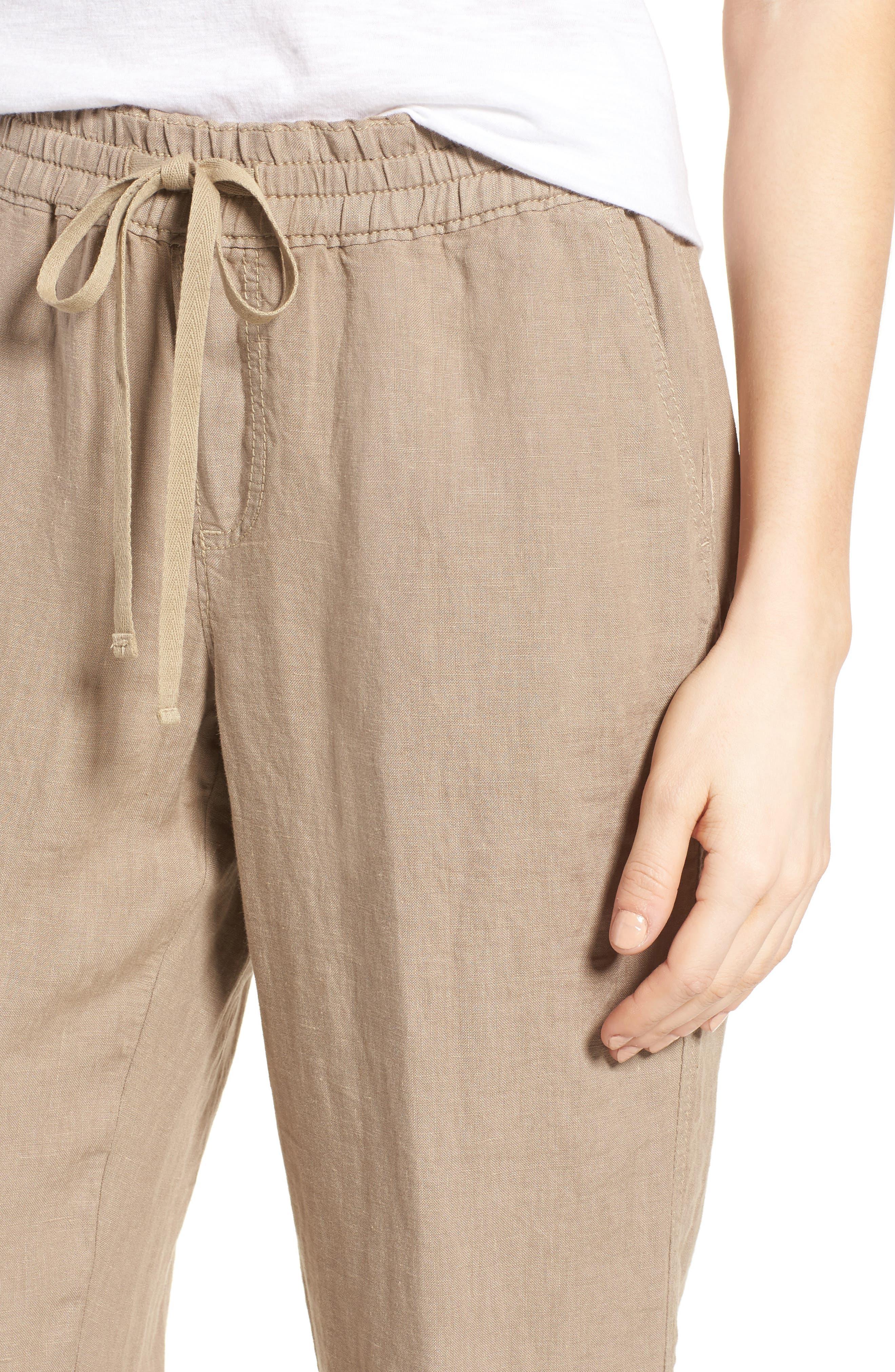 Linen Crop Pants,                             Alternate thumbnail 25, color,