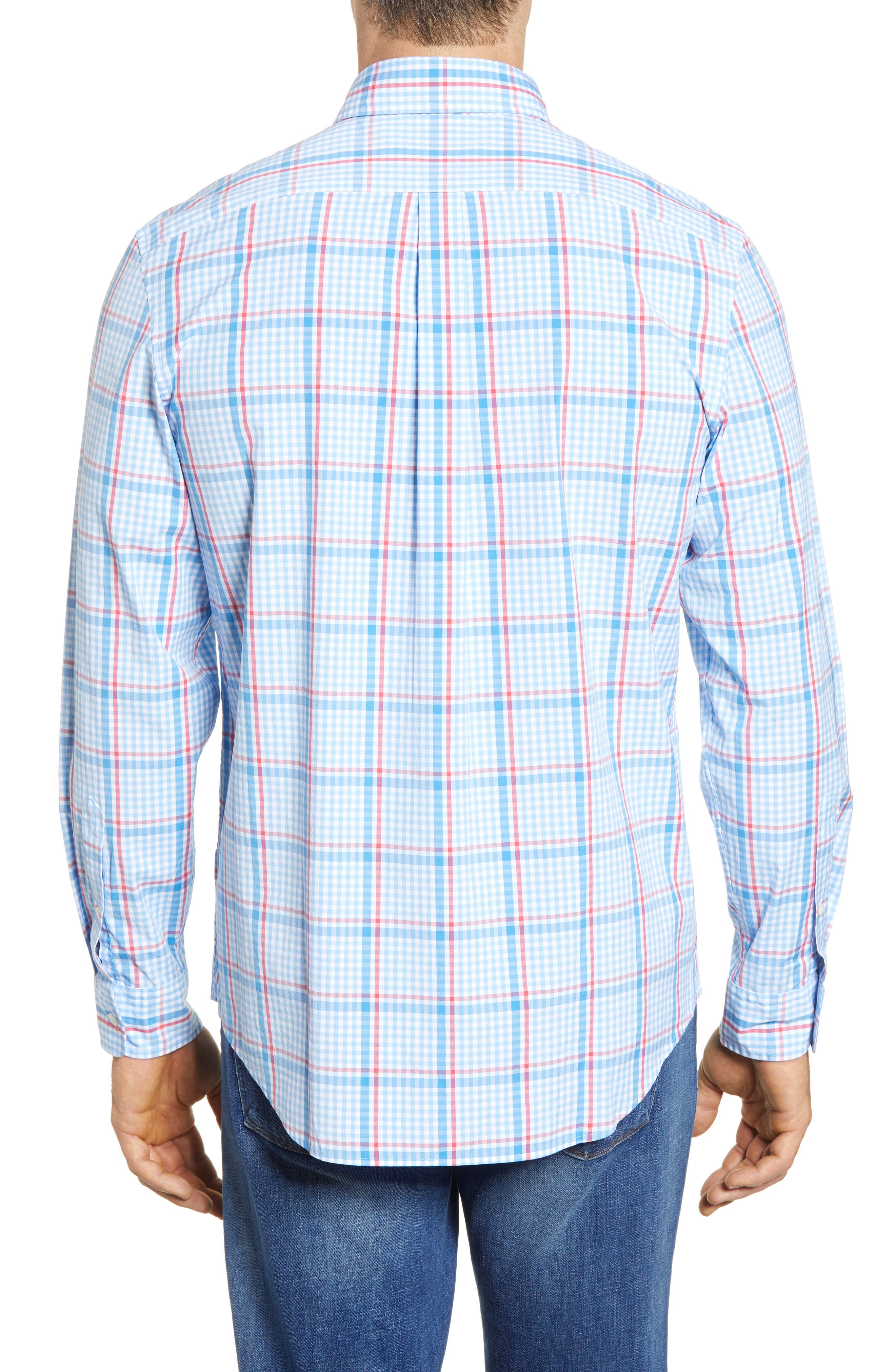 Palmer Island Classic Fit Plaid Sport Shirt,                             Alternate thumbnail 2, color,                             484