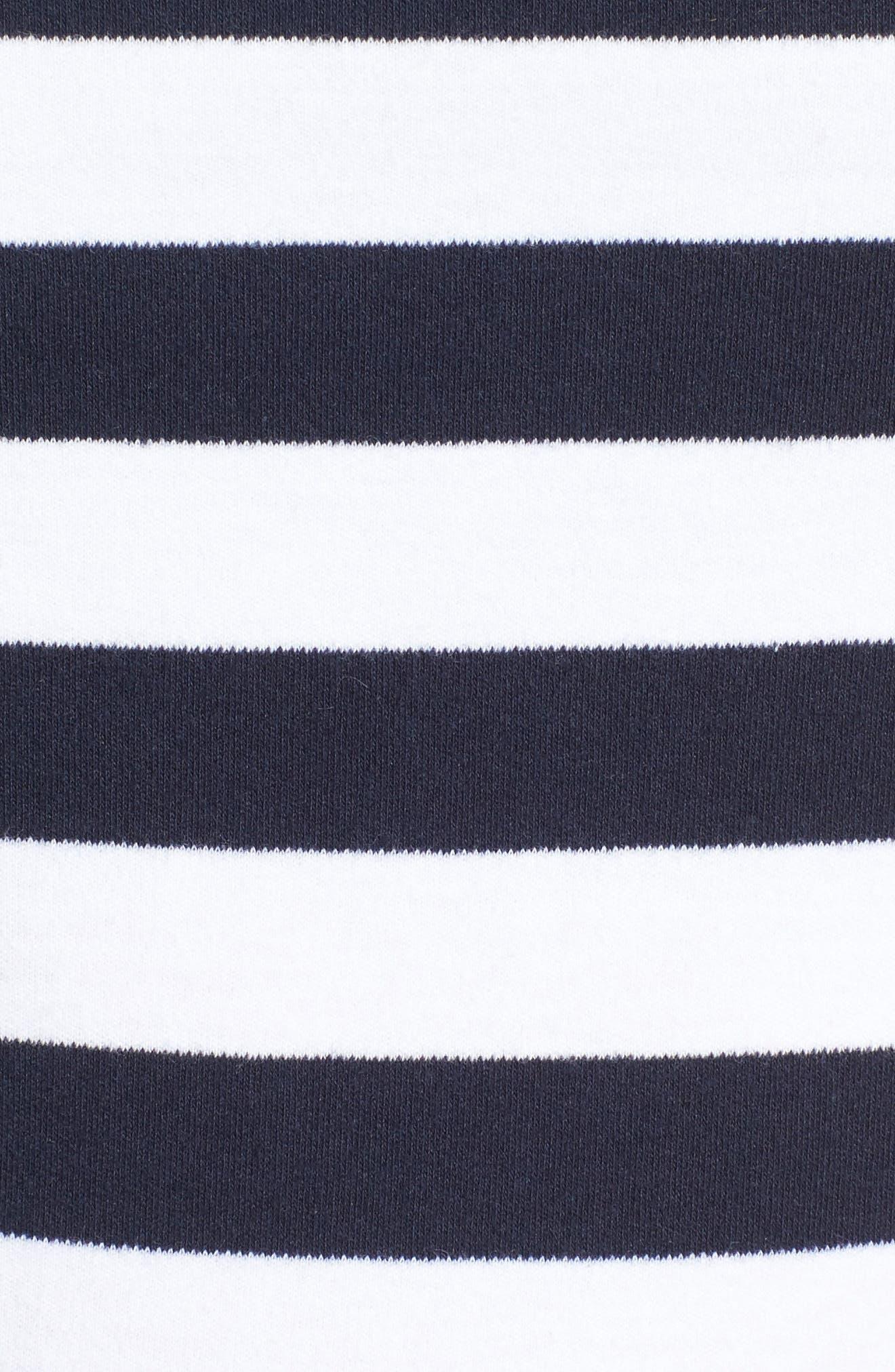 Stripe Knit Peplum Top,                             Alternate thumbnail 18, color,