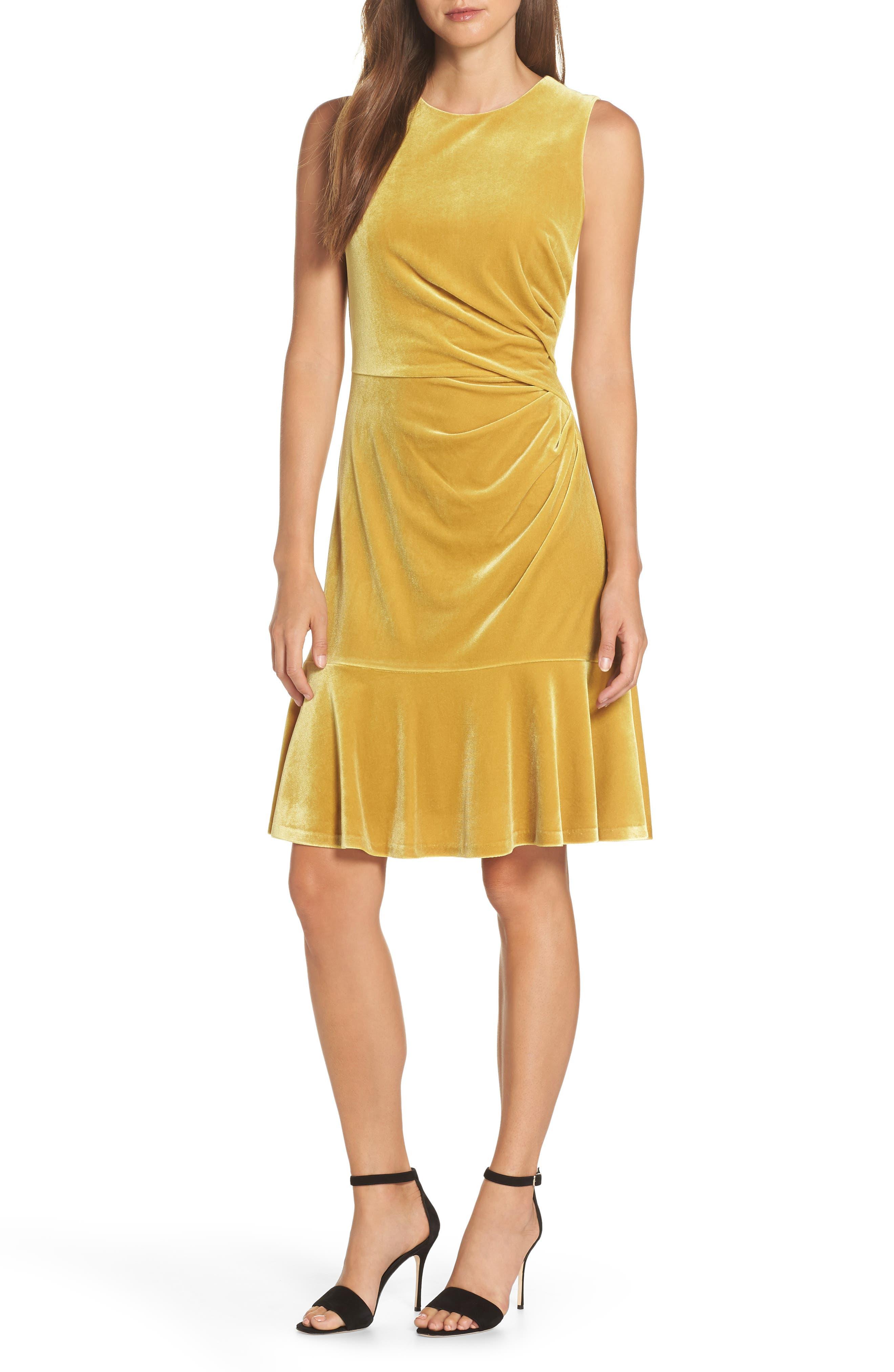 Great Gatsby Dress – Great Gatsby Dresses for Sale Womens Eliza J Draped Velvet Sheath Dress Size 18 similar to 14W - Yellow $76.80 AT vintagedancer.com