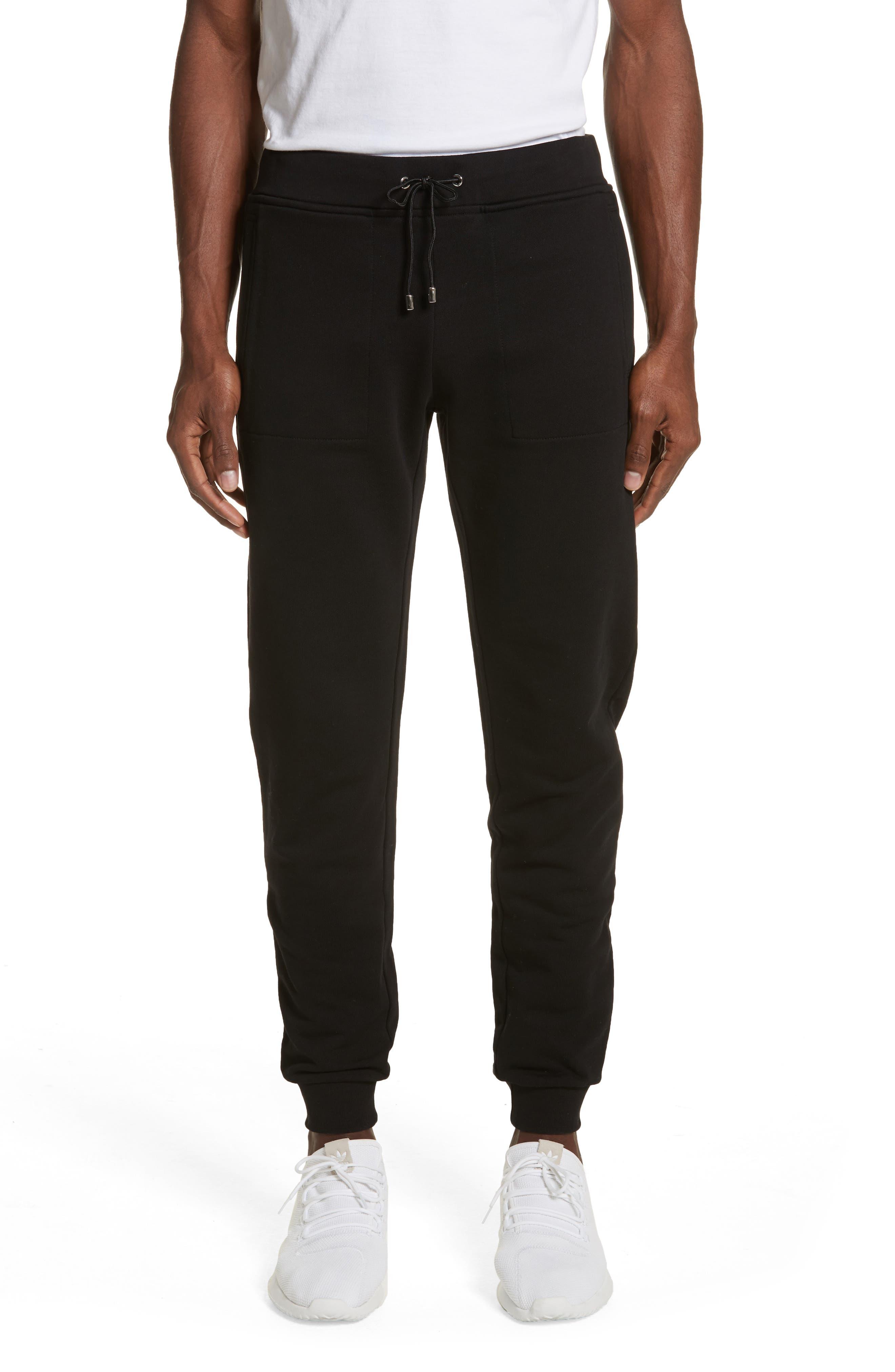 Medusa Embroidered Jogger Pants,                         Main,                         color, BLACK