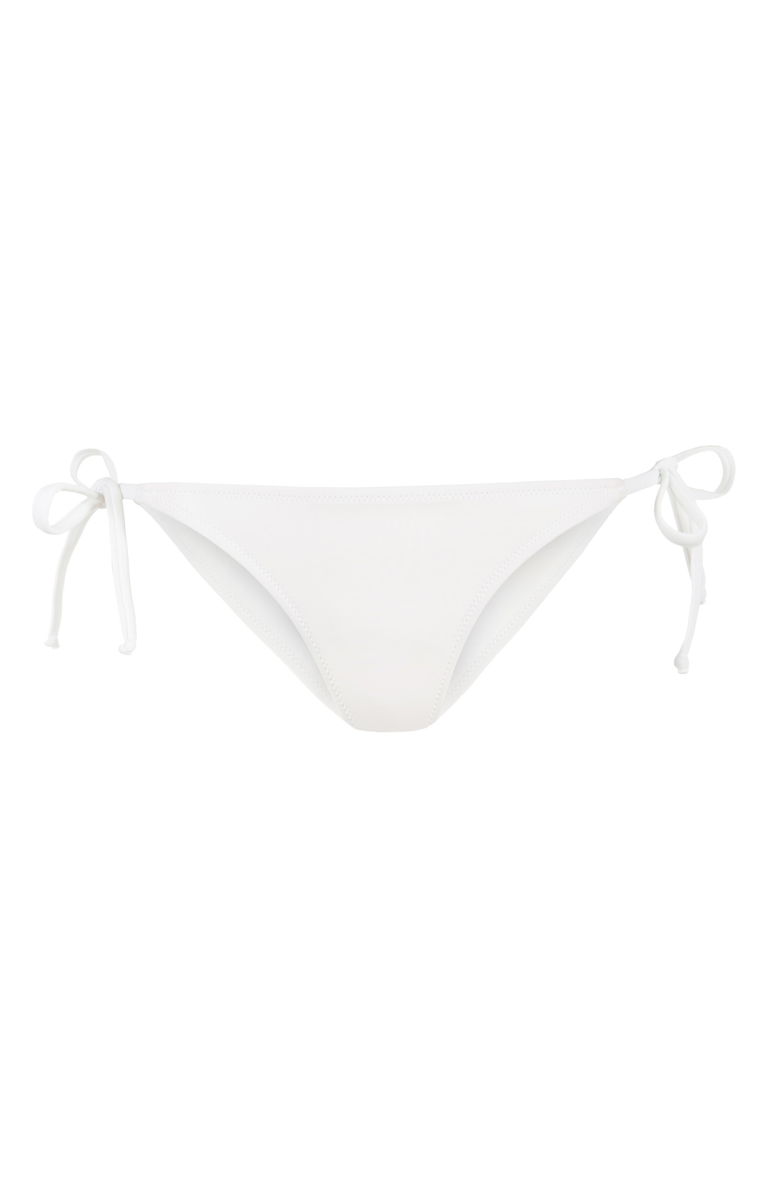 The String Bikini Swim Bottoms,                             Alternate thumbnail 4, color,                             LIVELY WHITE