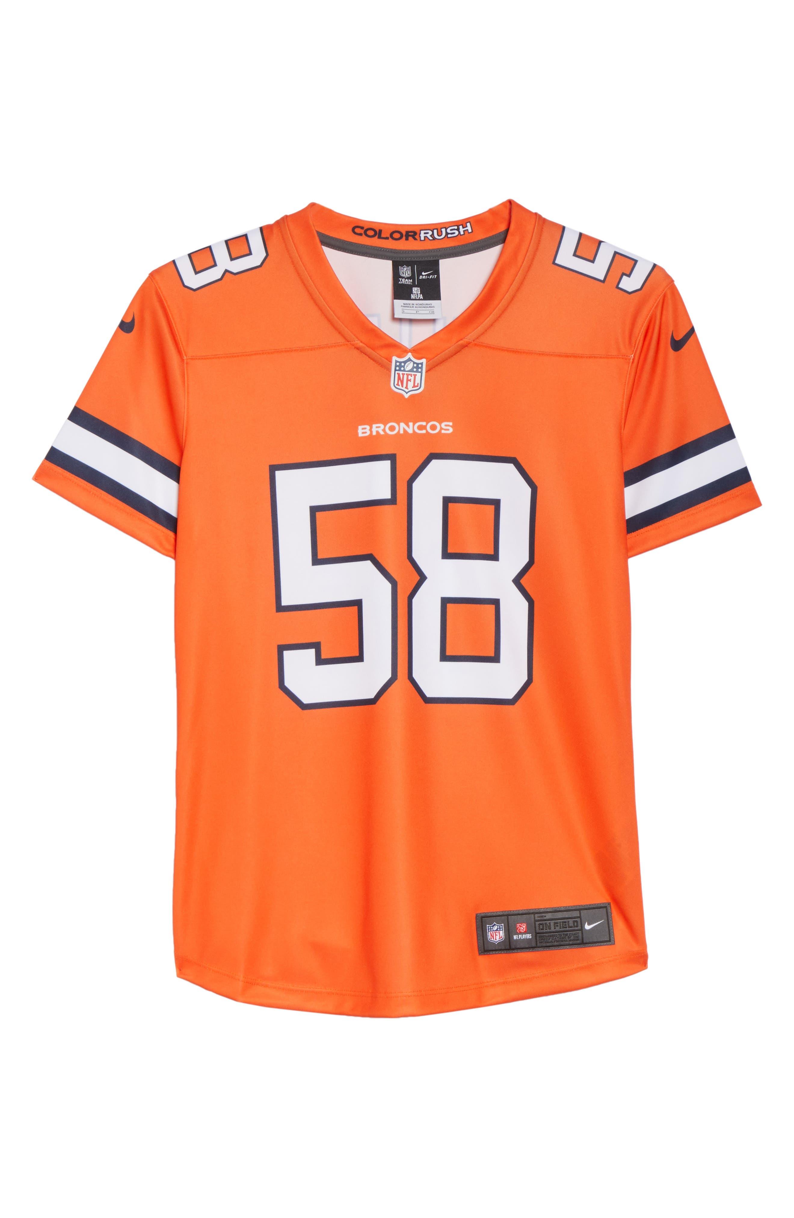 NFL Miller Denver Broncos Jersey,                             Alternate thumbnail 7, color,                             828