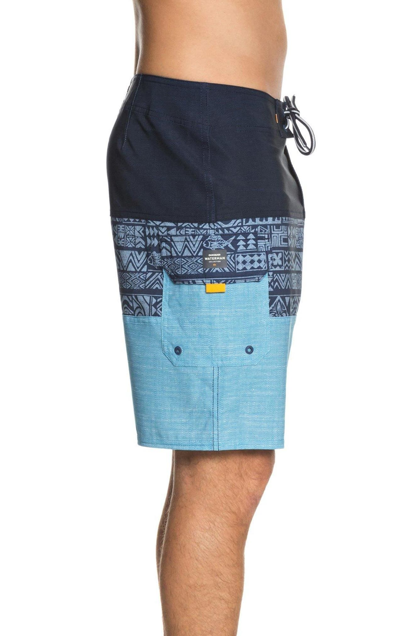 Fairway Triblock Board Shorts,                             Alternate thumbnail 3, color,                             401