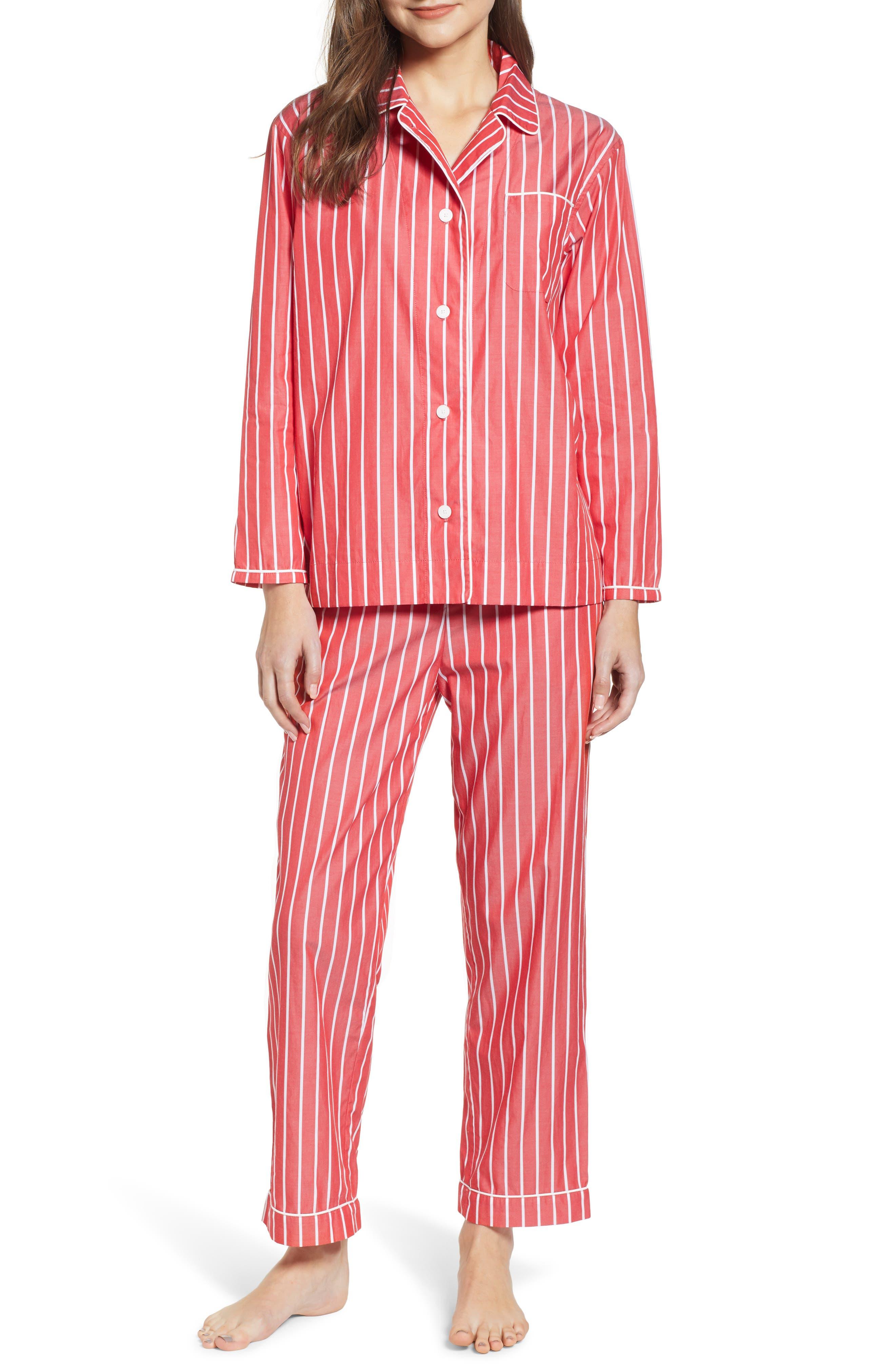 SLEEPY JONES Pajamas in Red Stripe