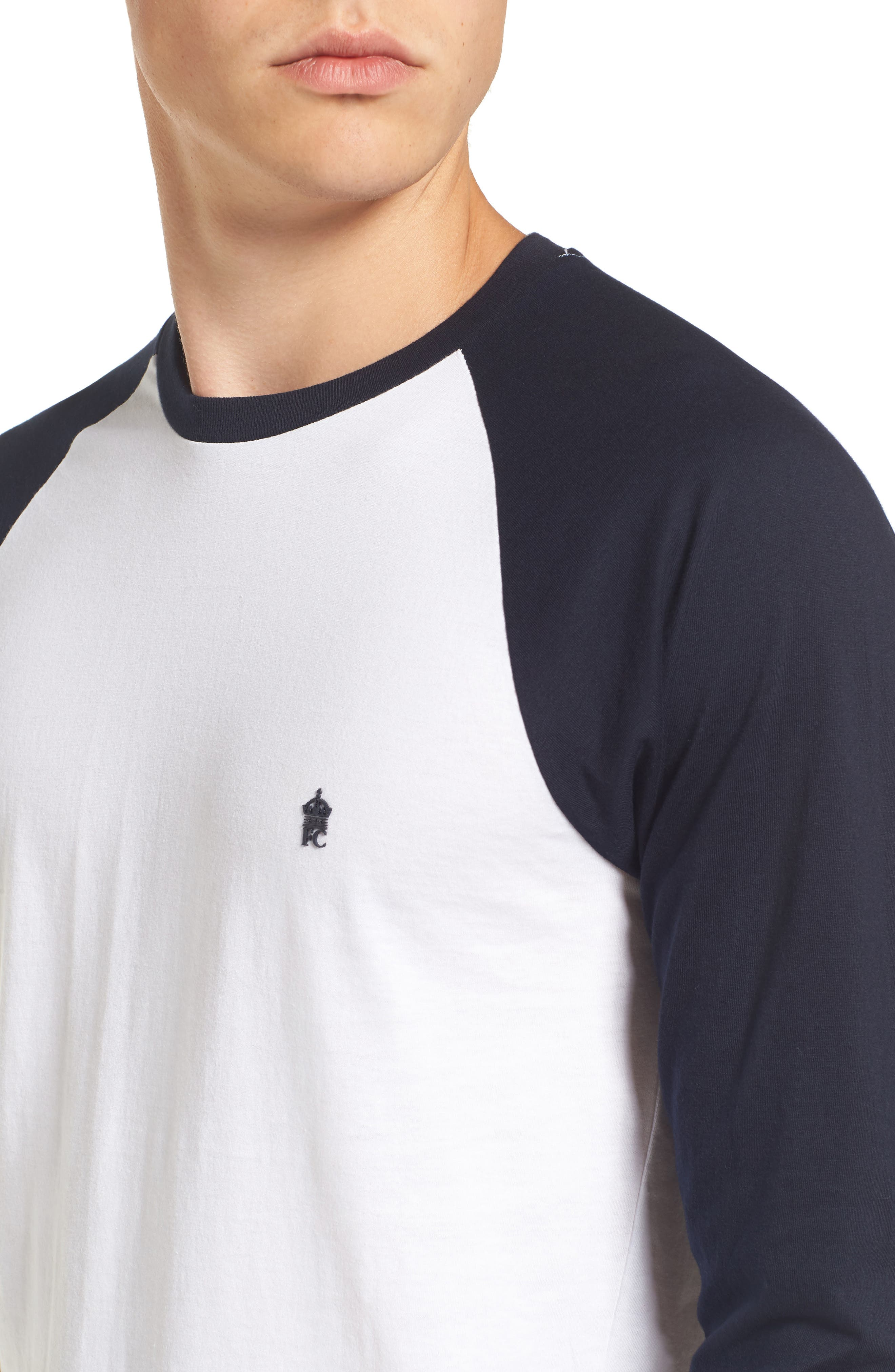 Slim Fit Long Sleeve Raglan T-Shirt,                             Alternate thumbnail 4, color,                             121