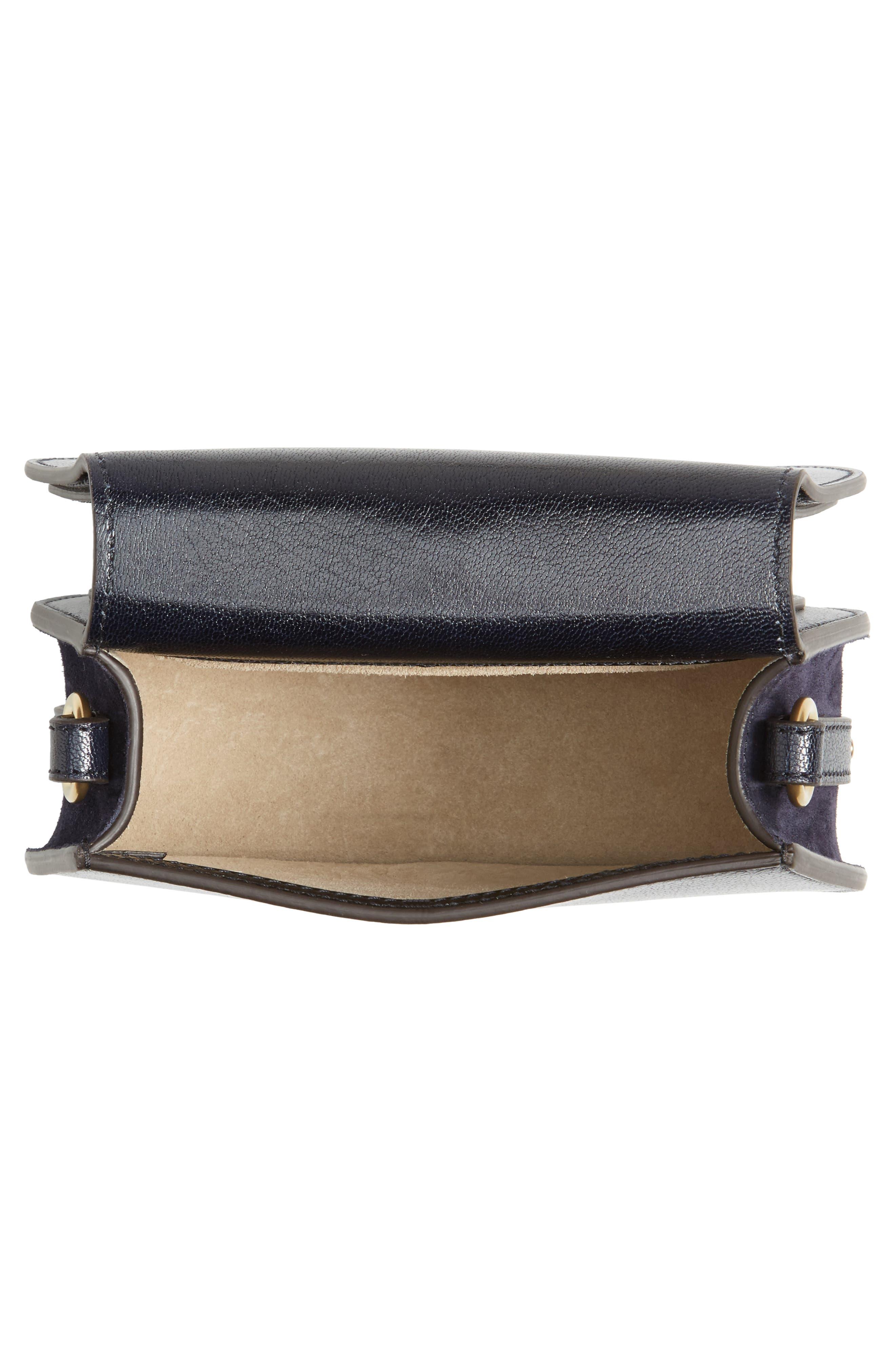 Small Nile Leather Crossbody Bag,                             Alternate thumbnail 4, color,                             412