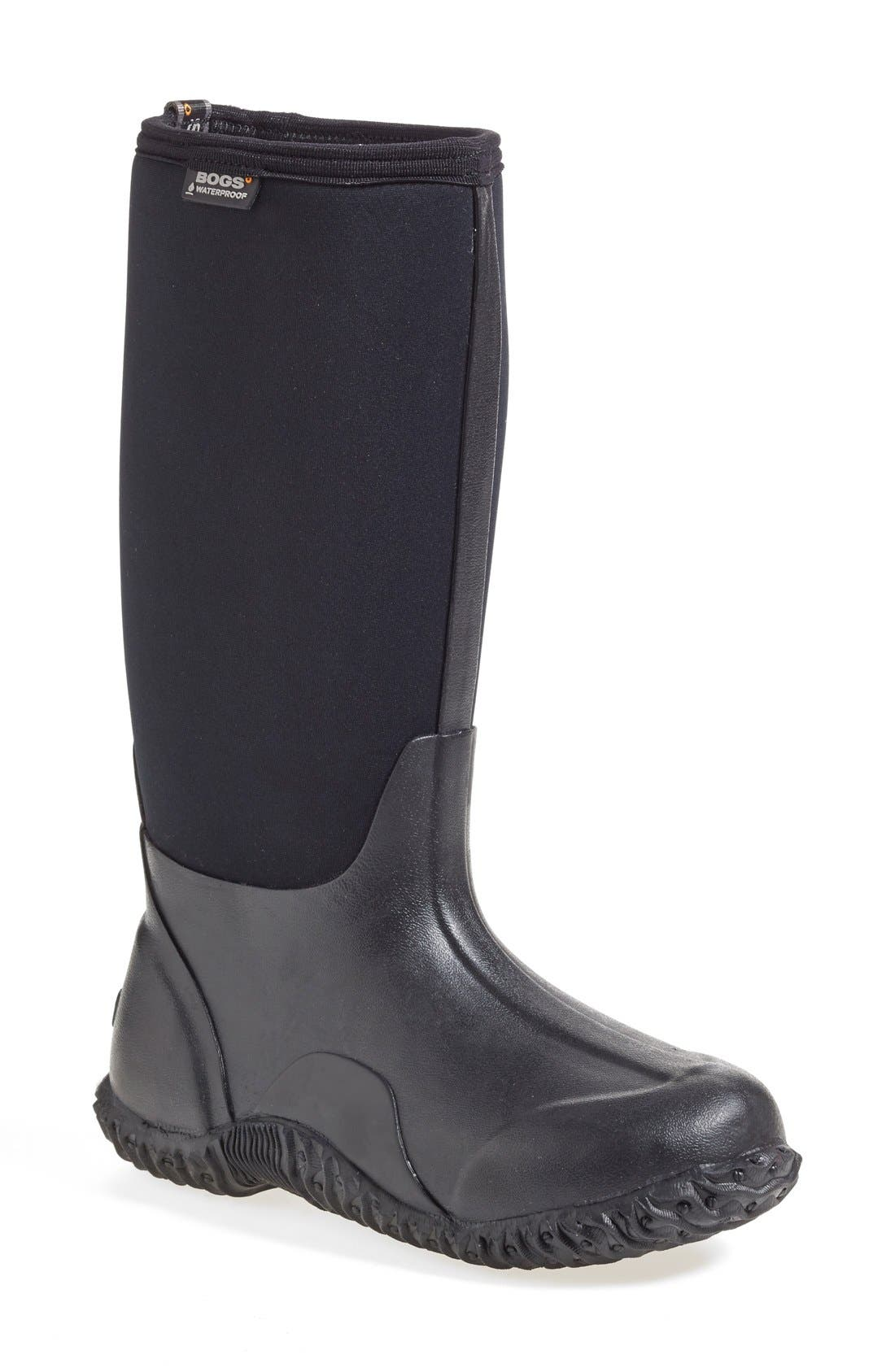 'Classic' High Waterproof Snow Boot,                             Main thumbnail 1, color,                             001