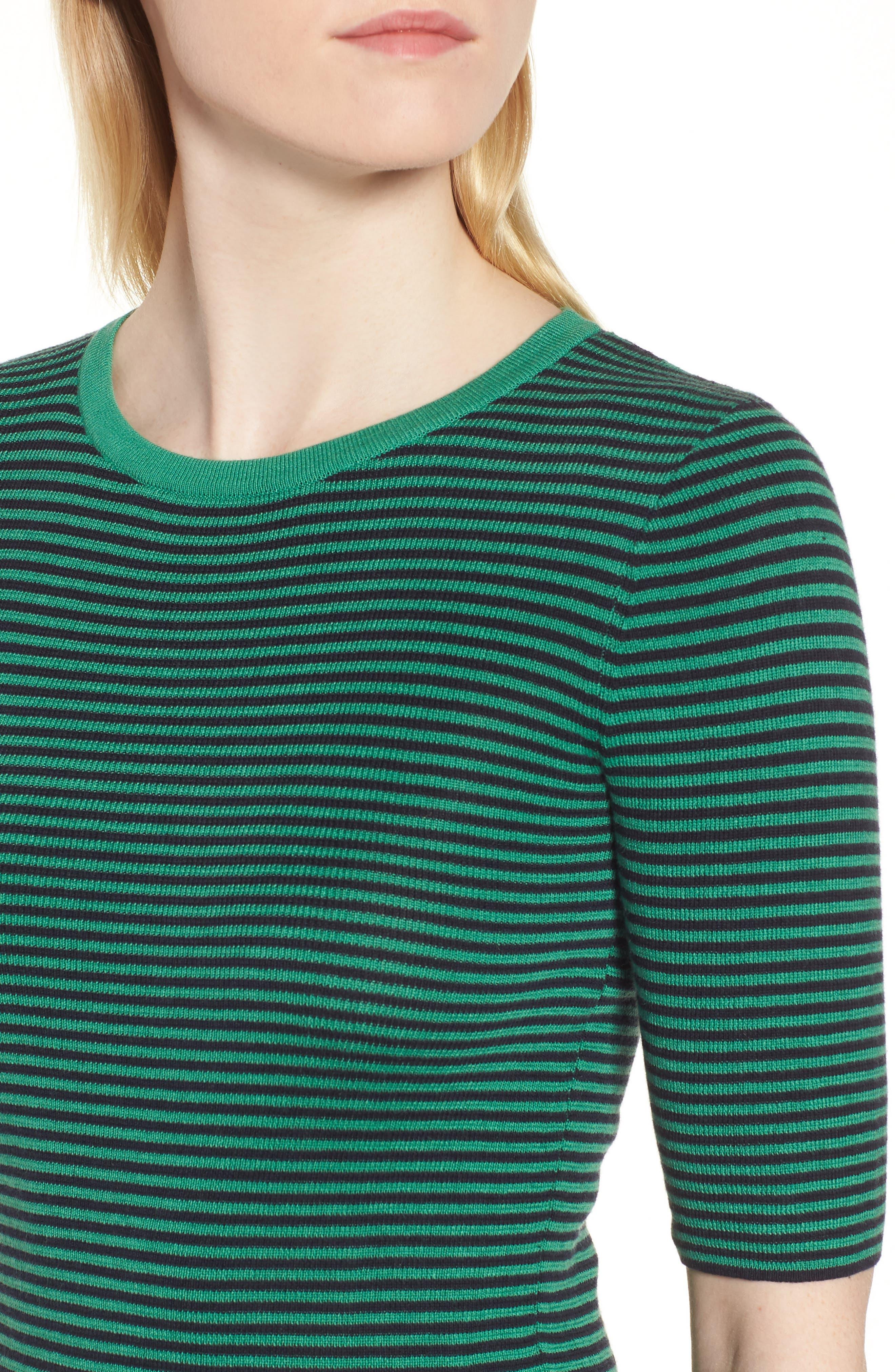 Stripe Crewneck Sweater,                             Alternate thumbnail 4, color,                             315