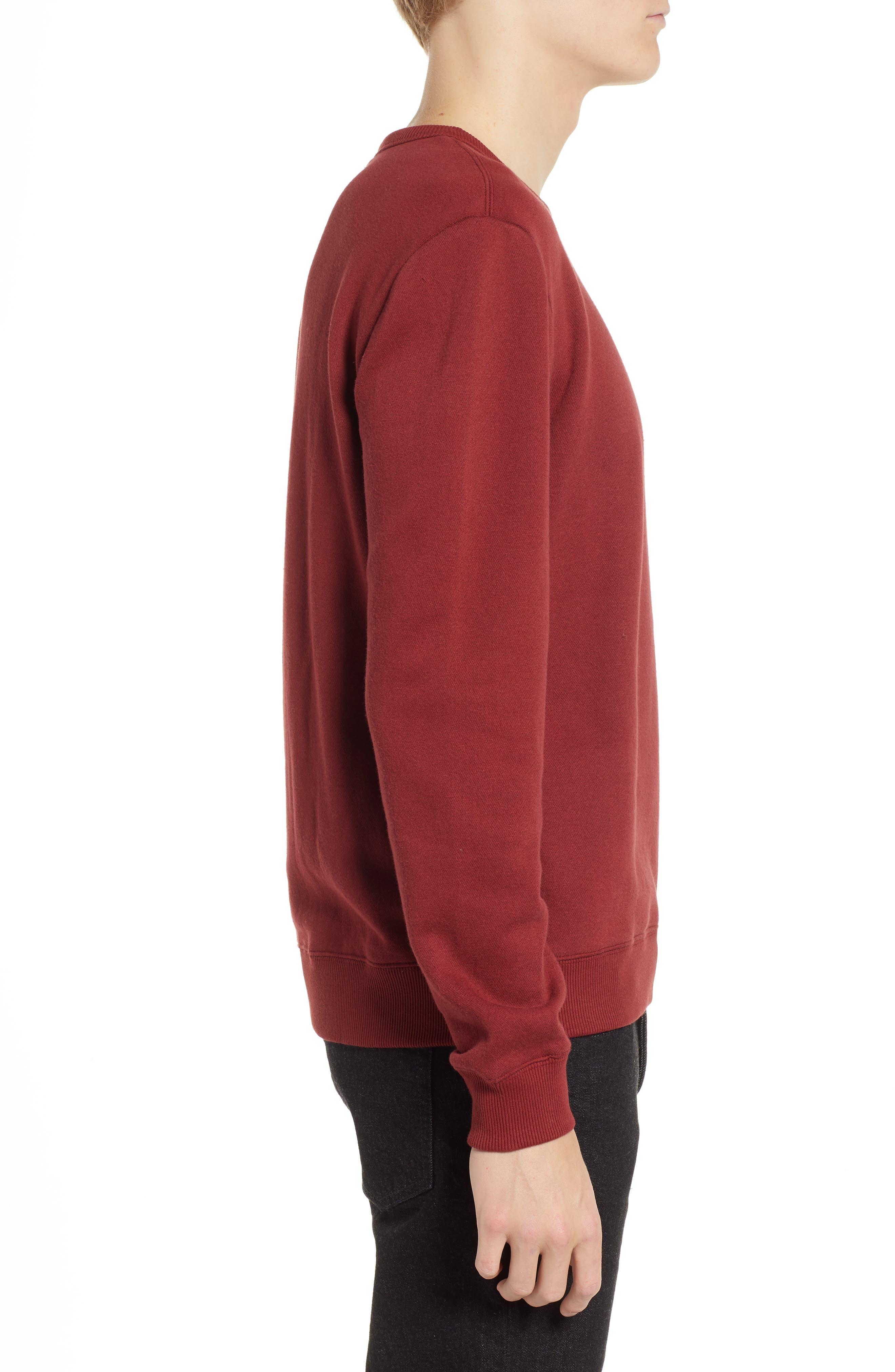B-Shield Appliqué Crewneck Sweatshirt,                             Alternate thumbnail 3, color,                             RED