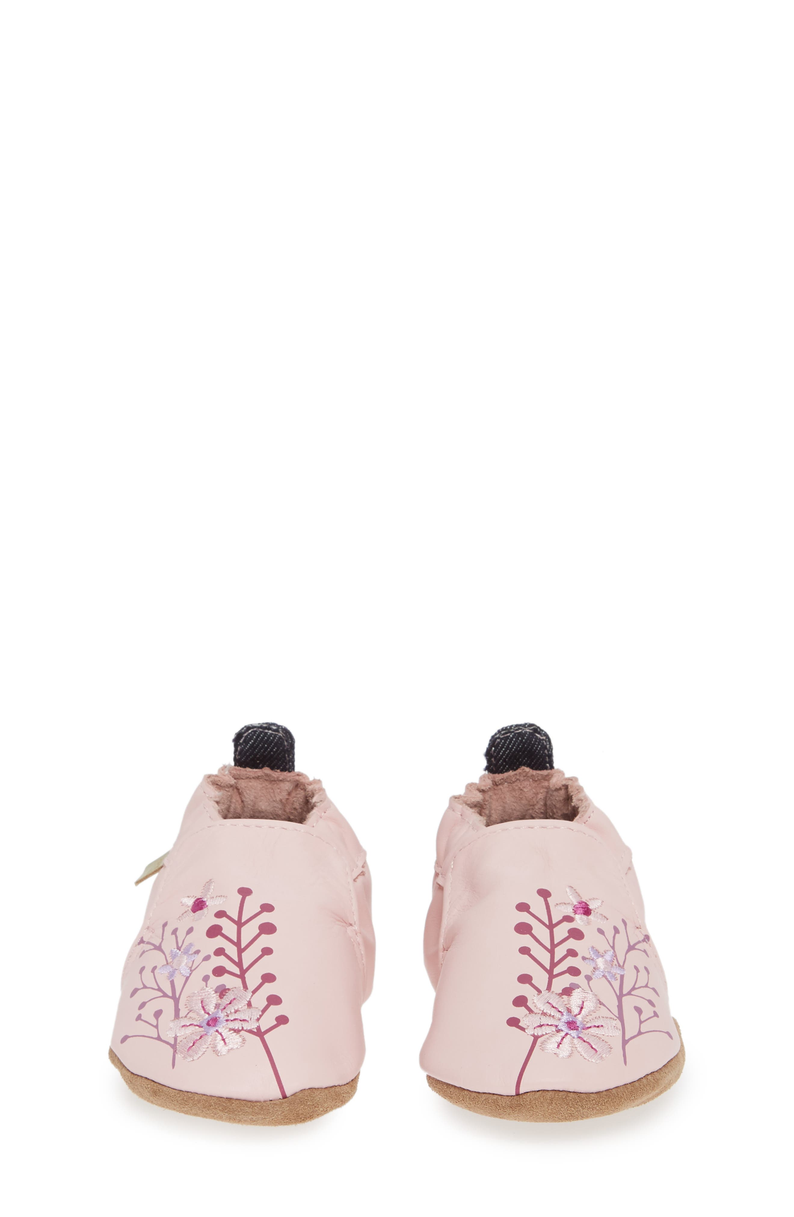 Blooming Floral Crib Shoe,                             Alternate thumbnail 4, color,                             LIGHT PINK