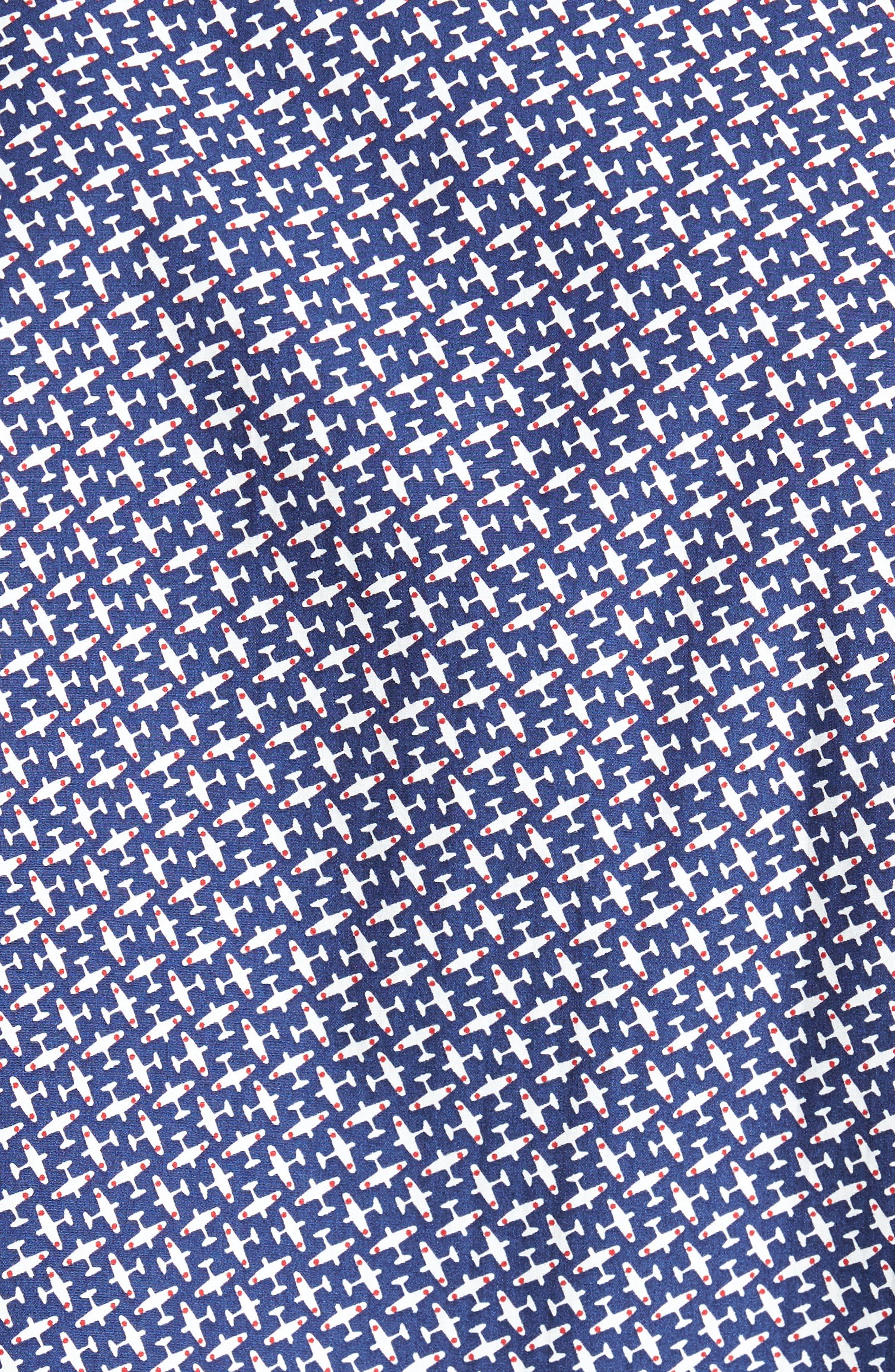 Paul&Shark Regular Fit Airplane Print Sport Shirt,                             Alternate thumbnail 5, color,