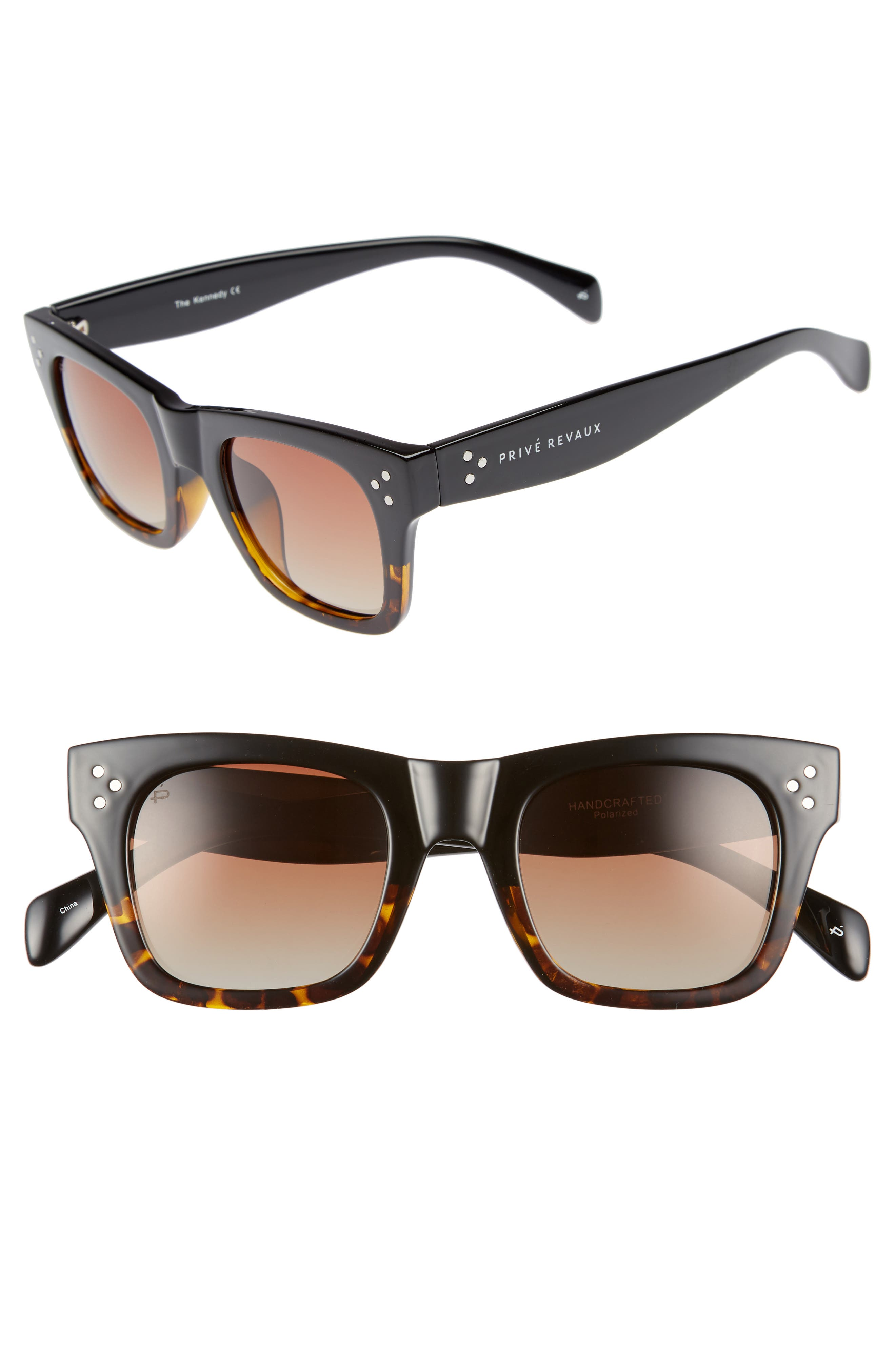 Privé Revaux The Kennedy 45mm Polarized Sunglasses,                             Main thumbnail 2, color,