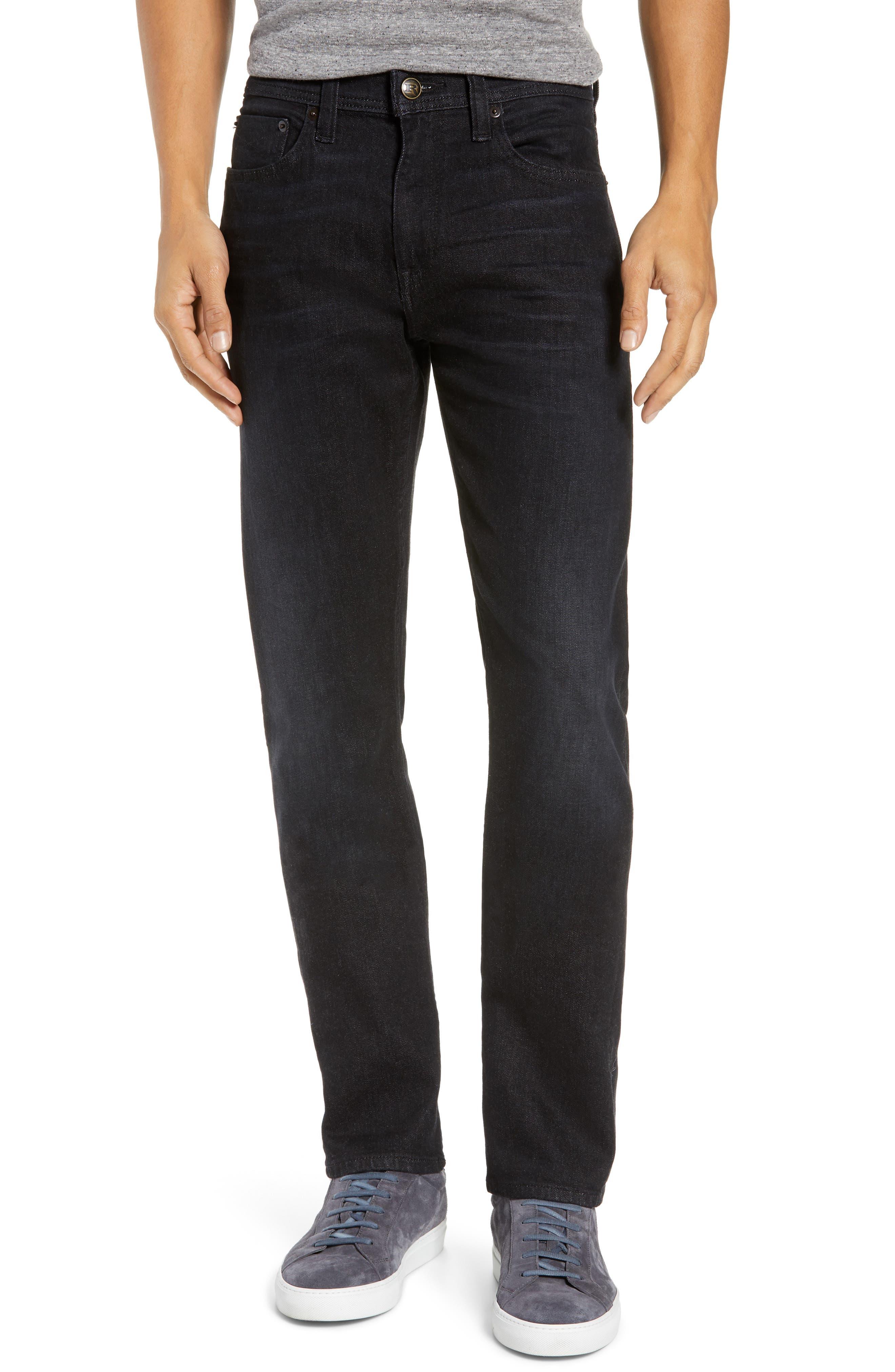 REVTOWN,                             Sharp Slim Fit Jeans,                             Main thumbnail 1, color,                             COAL BLACK