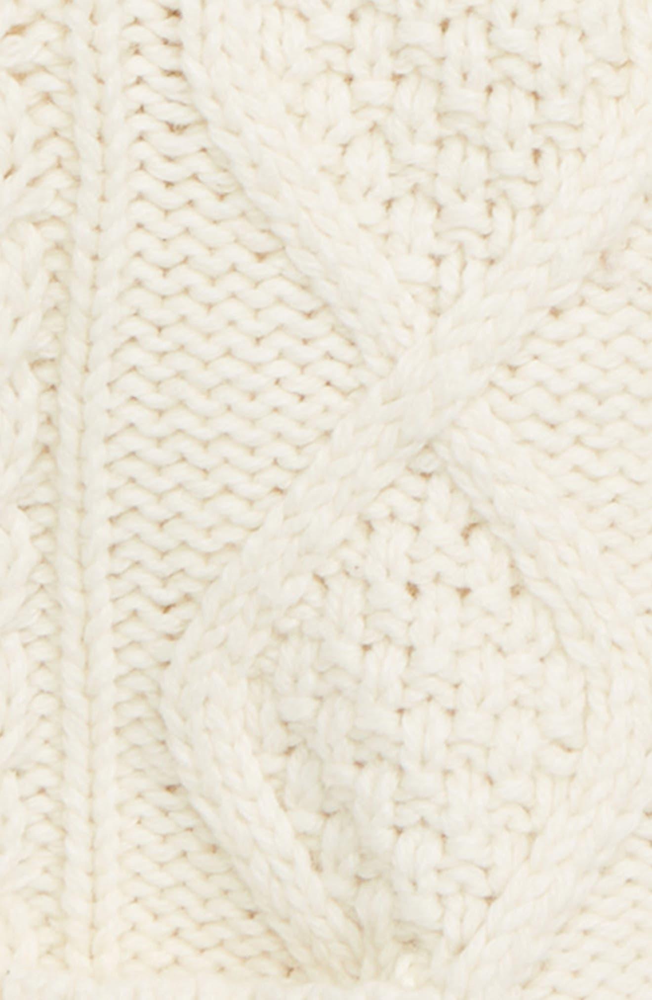 Cable Knit Cardigan,                             Alternate thumbnail 2, color,                             ECR ECRU MARL