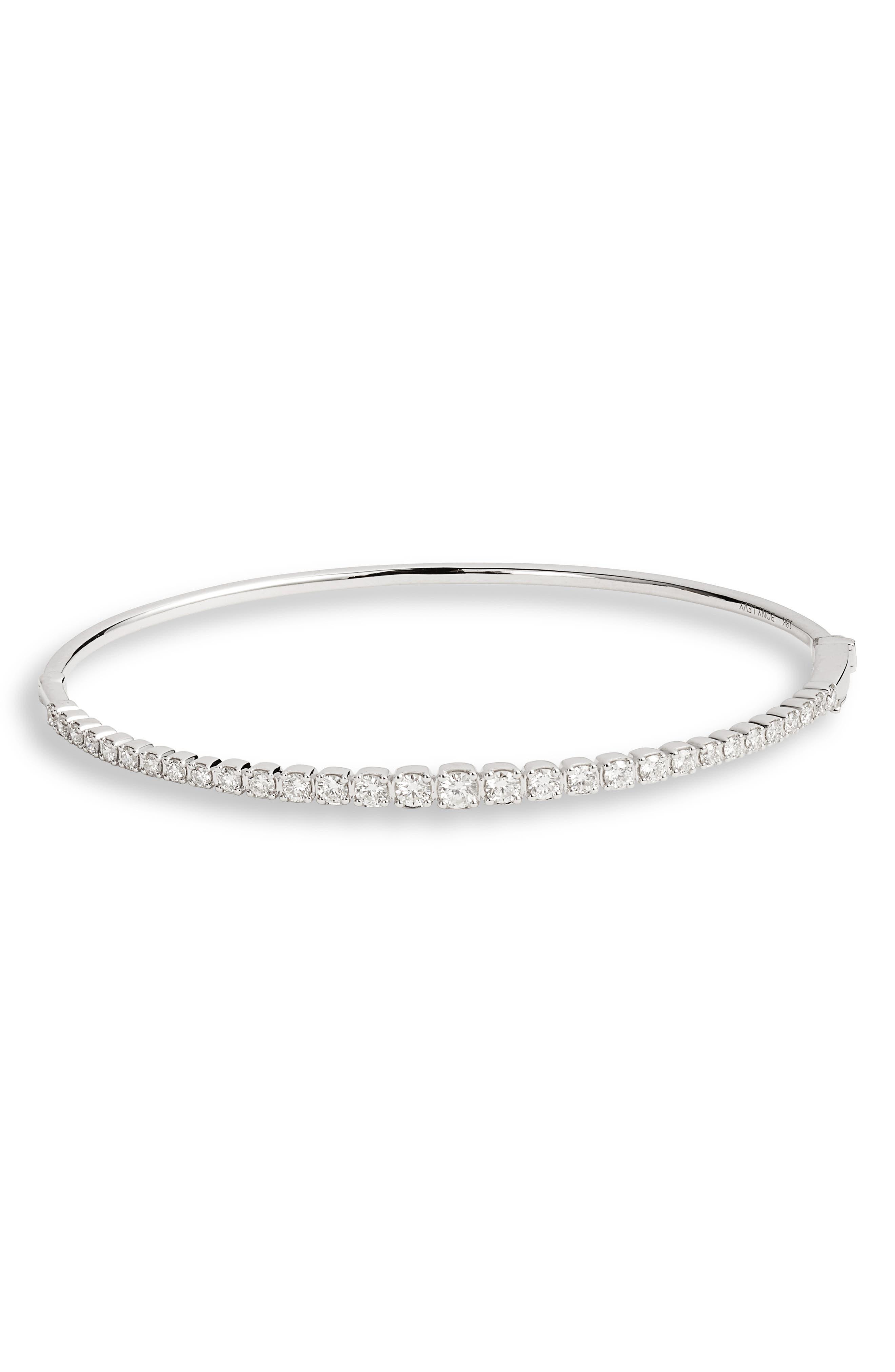 Bardot Diamond Bracelet,                             Main thumbnail 1, color,                             WHITE GOLD/ DIAMOND