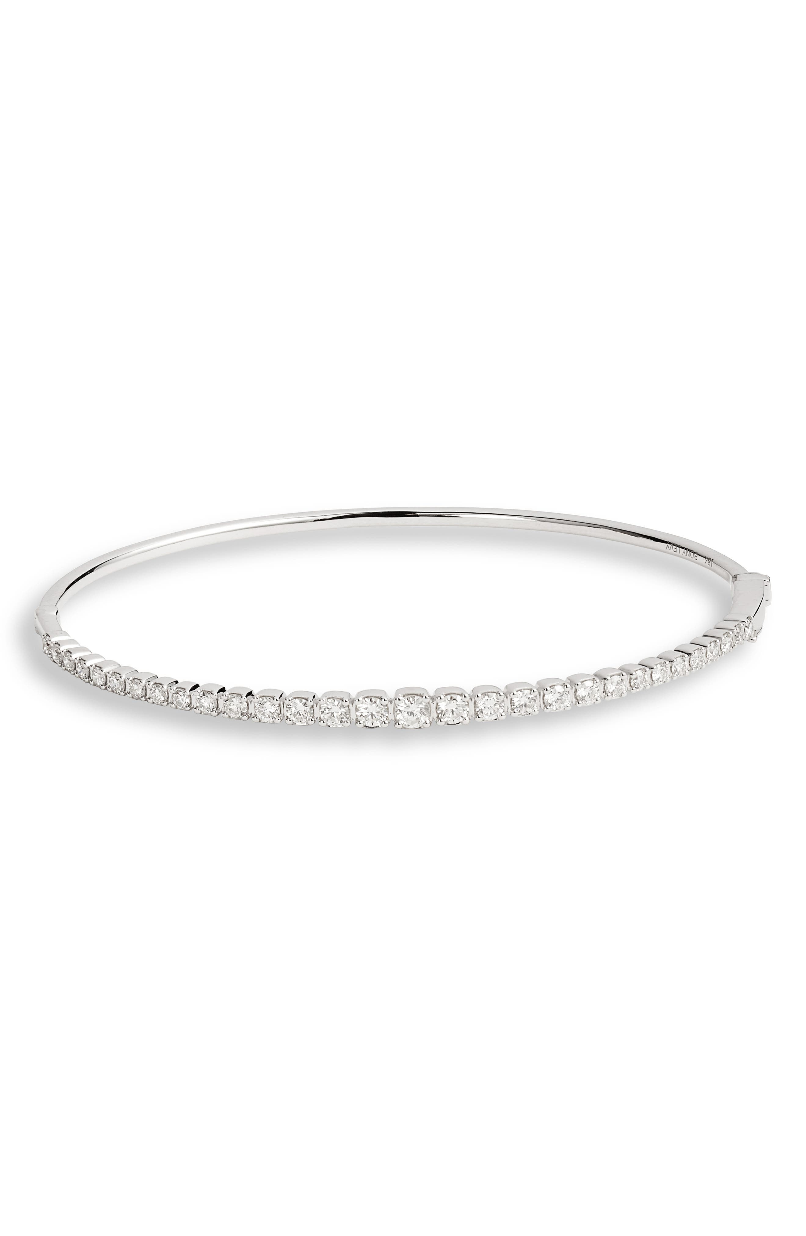Bardot Diamond Bracelet, Main, color, WHITE GOLD/ DIAMOND