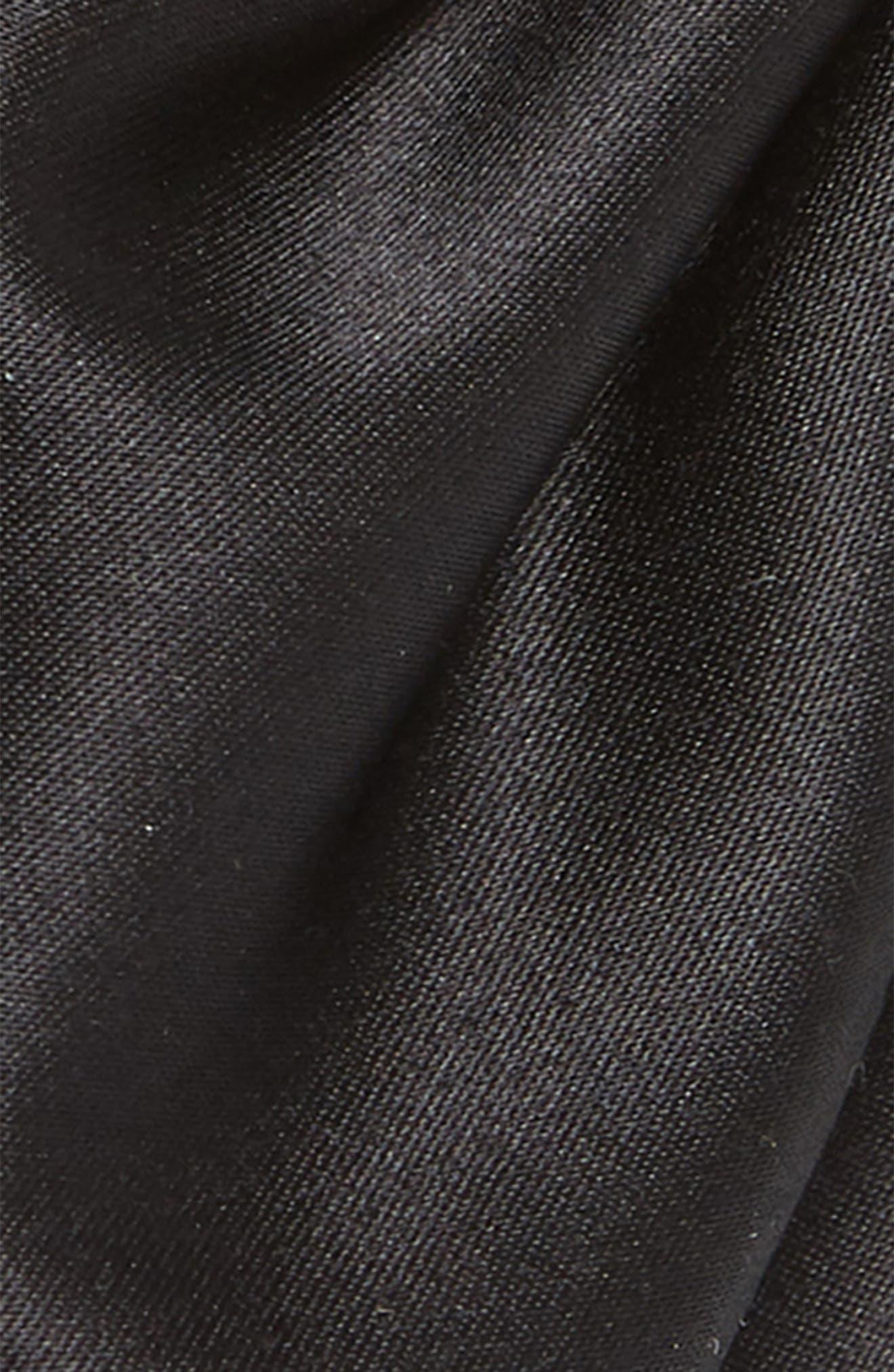 Satin Bow Headband,                             Alternate thumbnail 2, color,                             BLACK