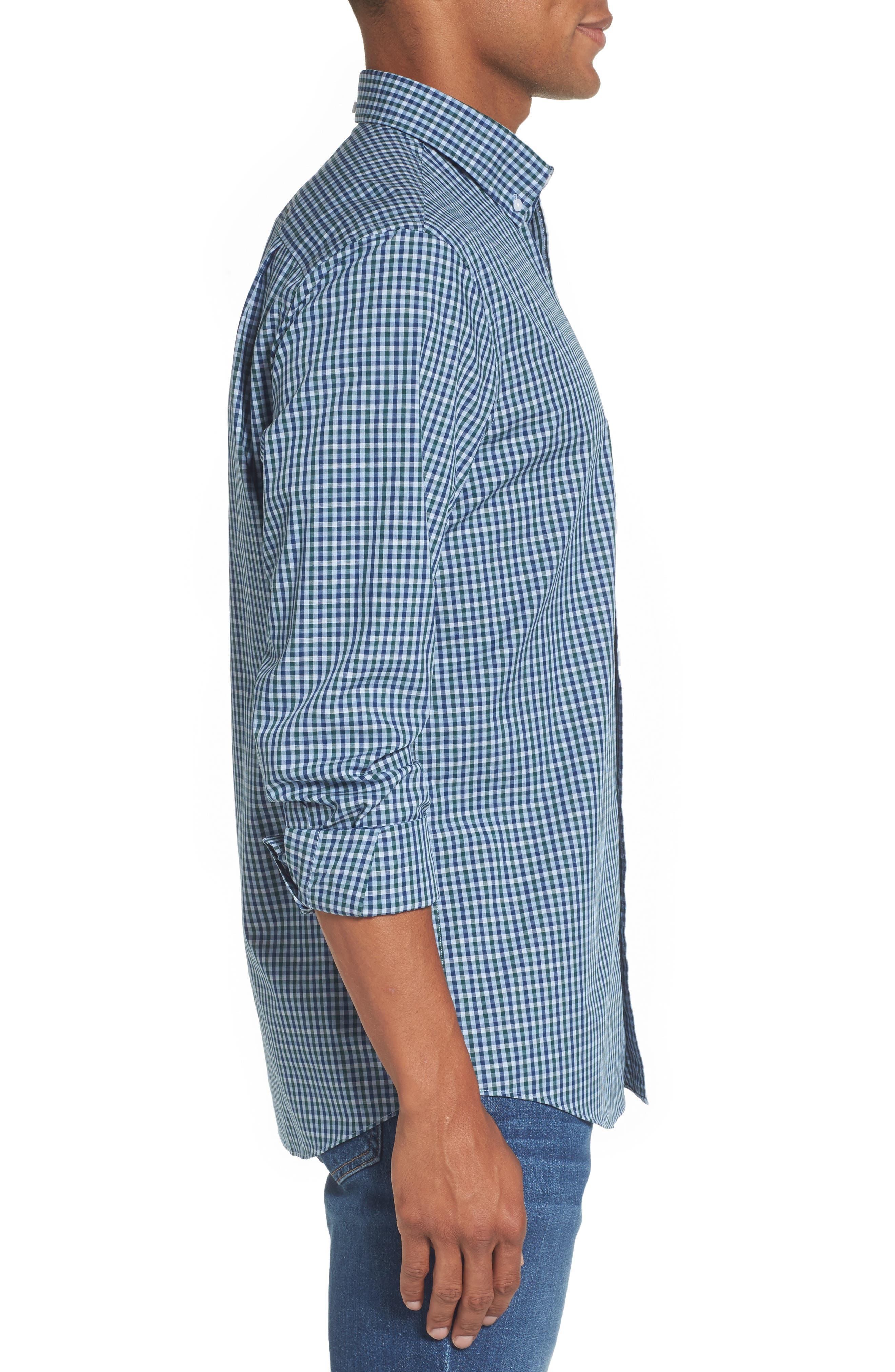 Regular Fit Non-Iron Mini Check Sport Shirt,                             Alternate thumbnail 3, color,                             310