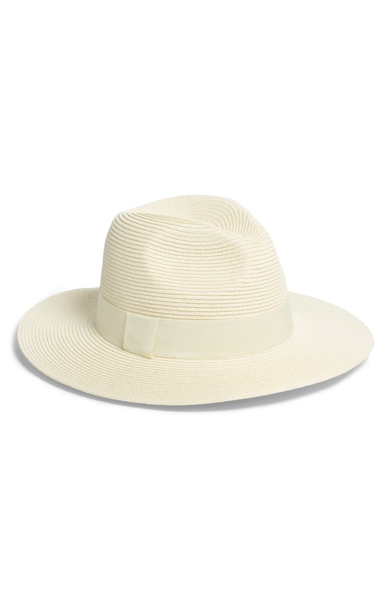 Woven Panama Hat, Main, color, IVORY