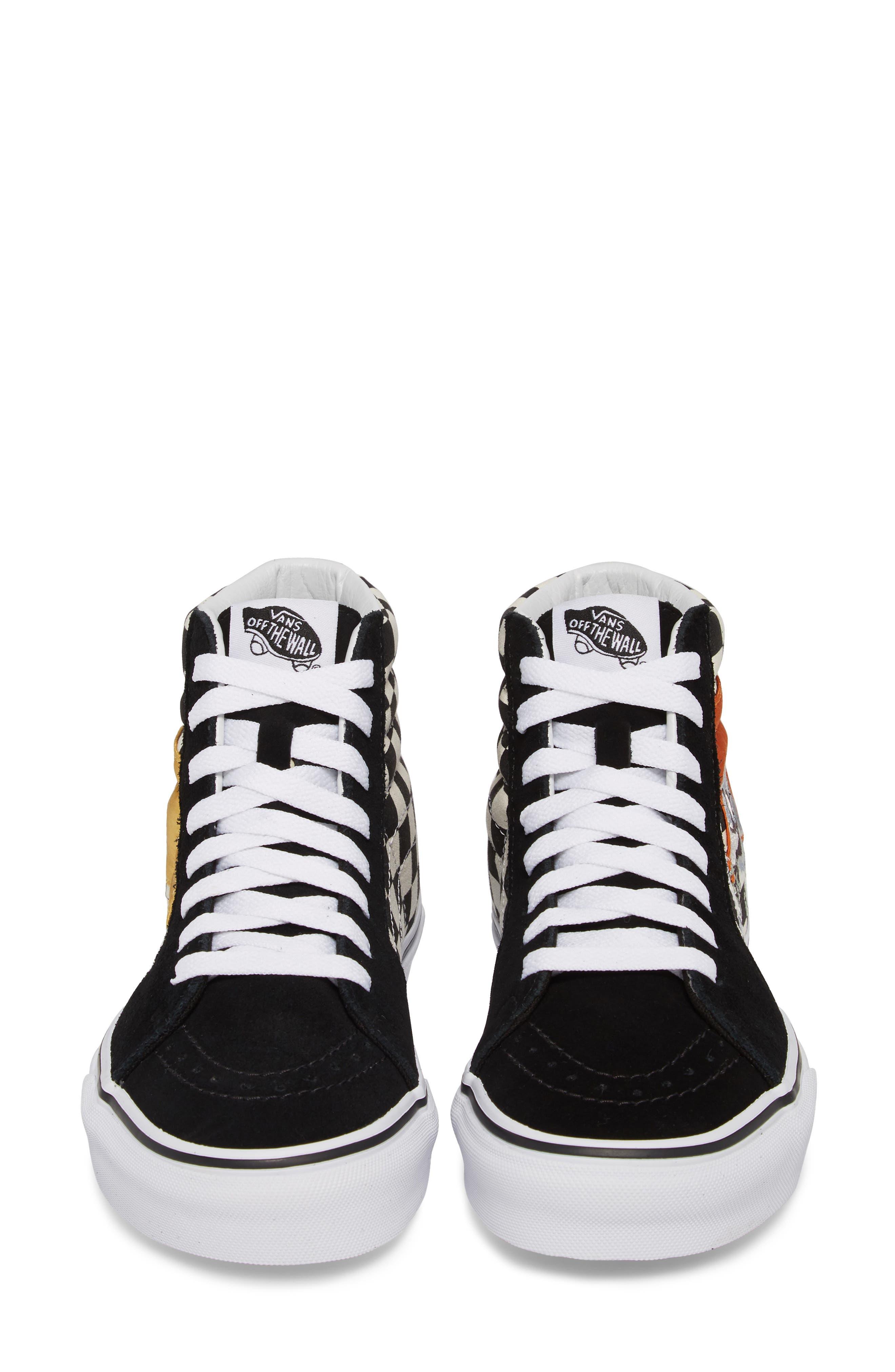 Sk8-Hi Checker Sneaker,                             Alternate thumbnail 5, color,                             003
