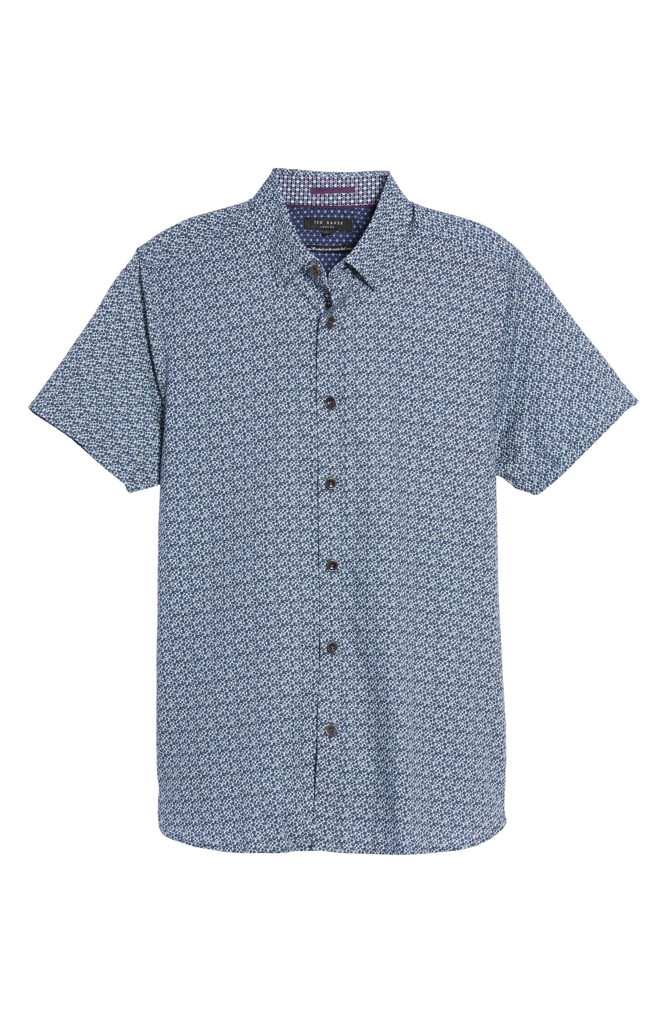Bubbly Extra Slim Fit Print Sport Shirt,                             Alternate thumbnail 6, color,                             410