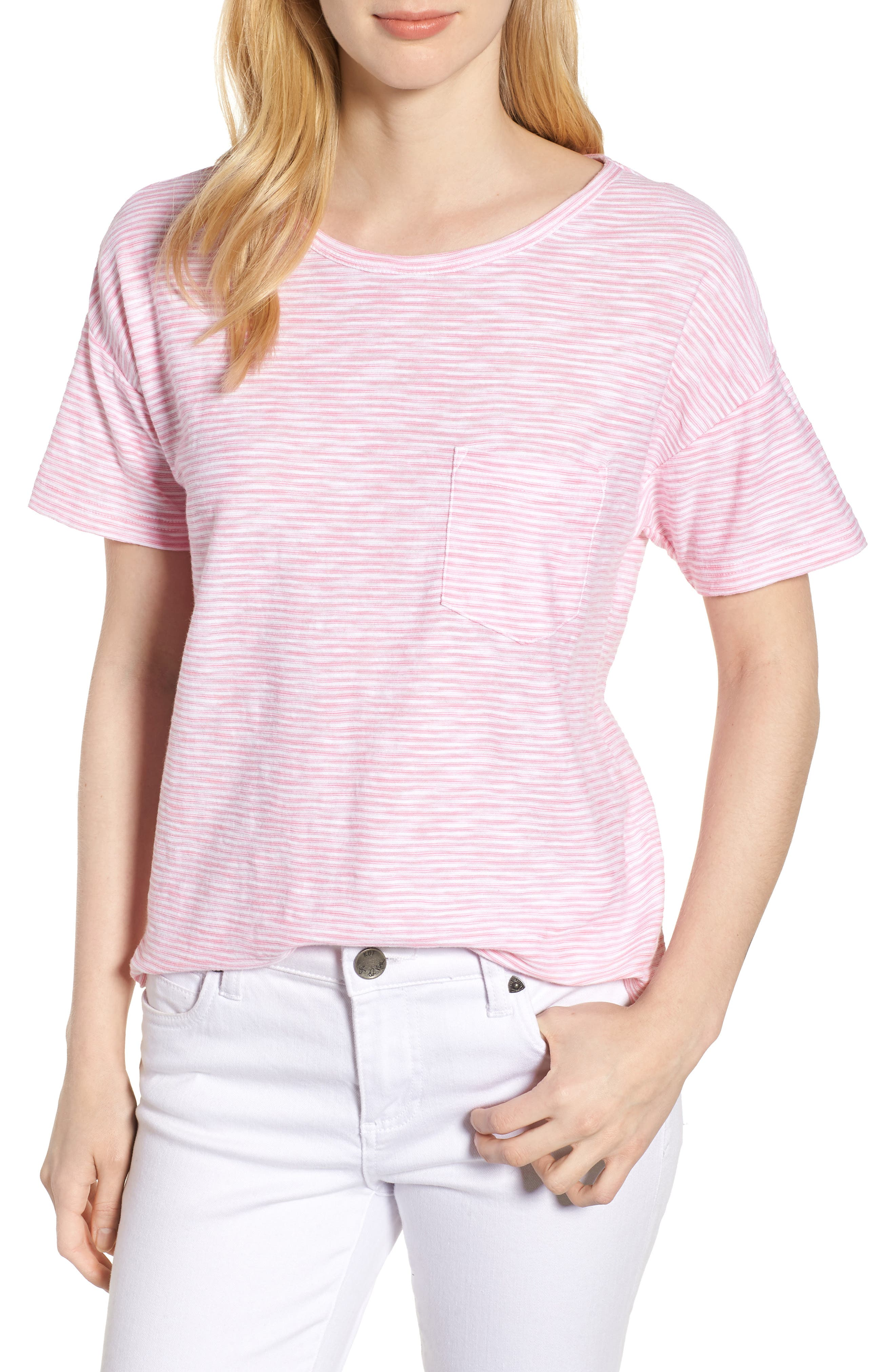 Striped Boxy Tee,                         Main,                         color, 654