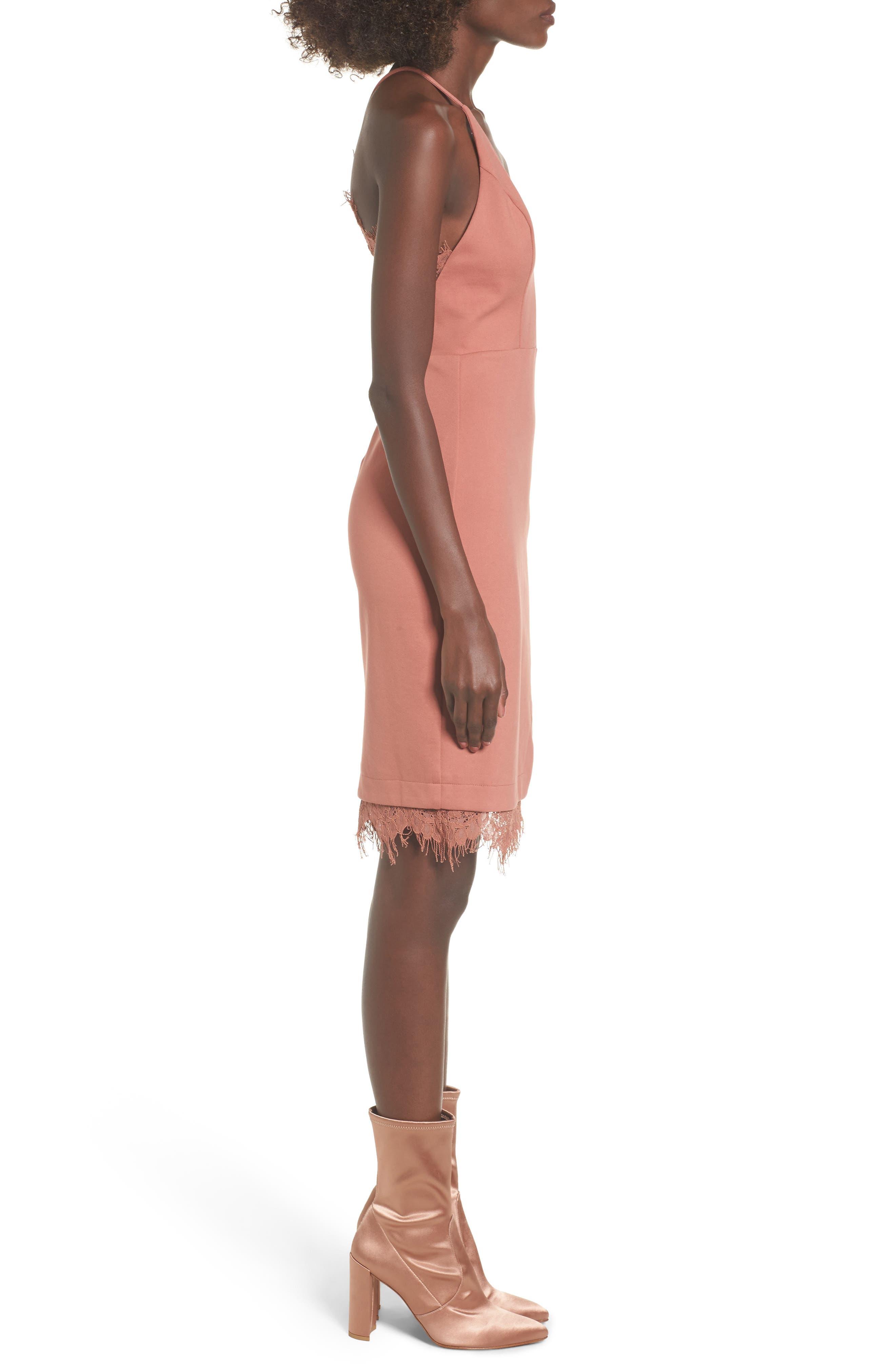 Lace Body-Con Dress,                             Alternate thumbnail 11, color,