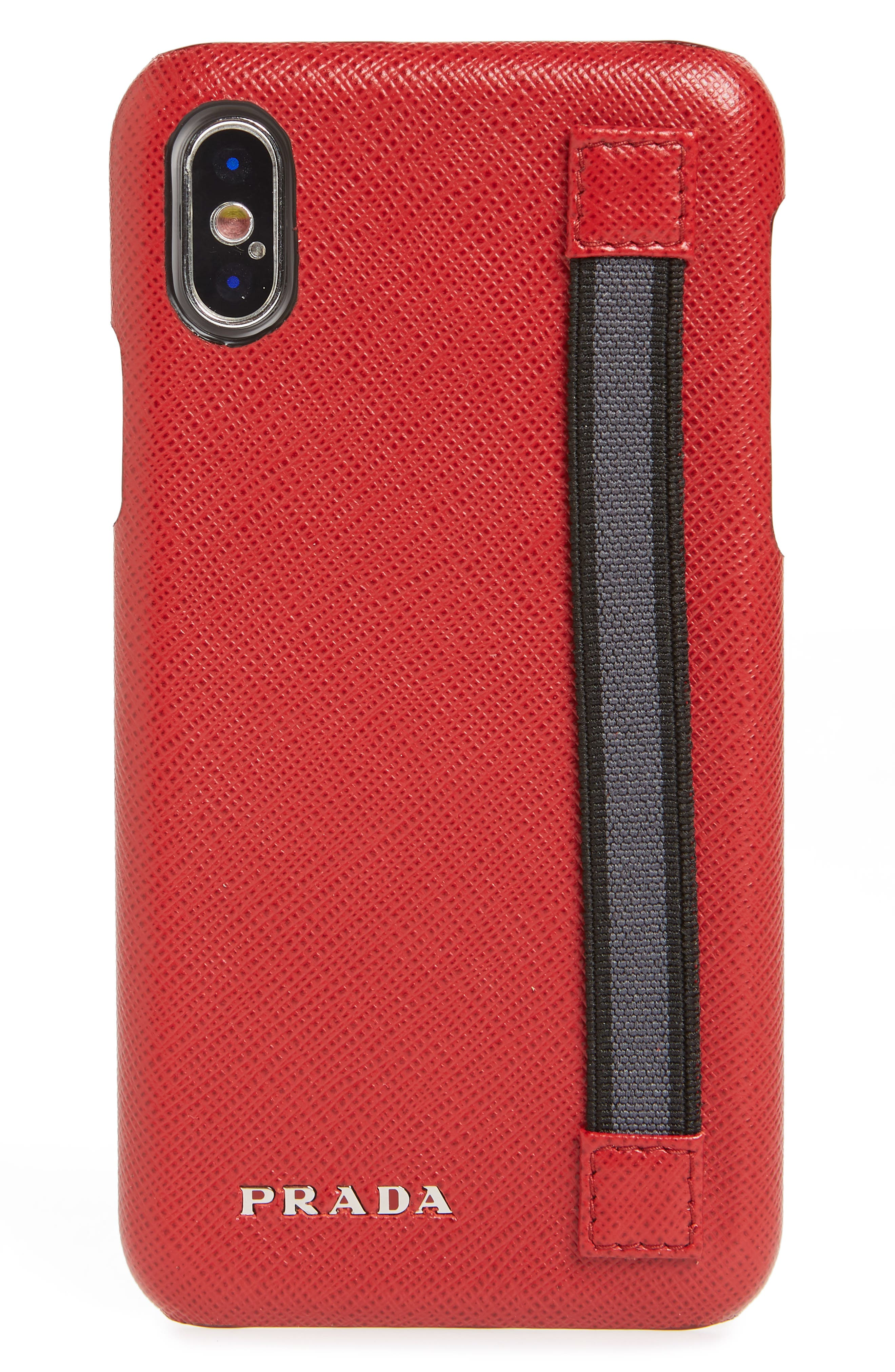 Saffiano Leather iPhone X Case,                             Main thumbnail 1, color,                             625