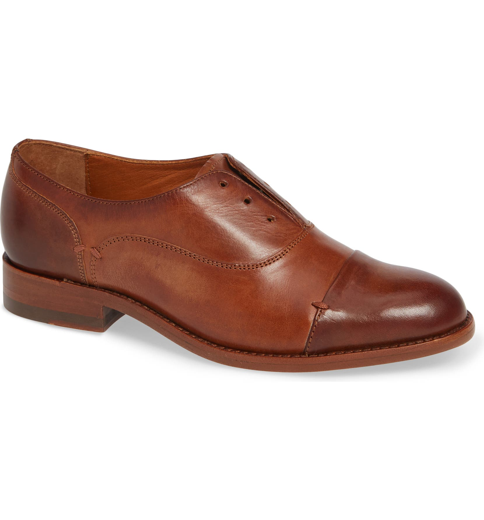 Austen Optional Lace-Up Oxford,                         Main,                         color, COGNAC LEATHER