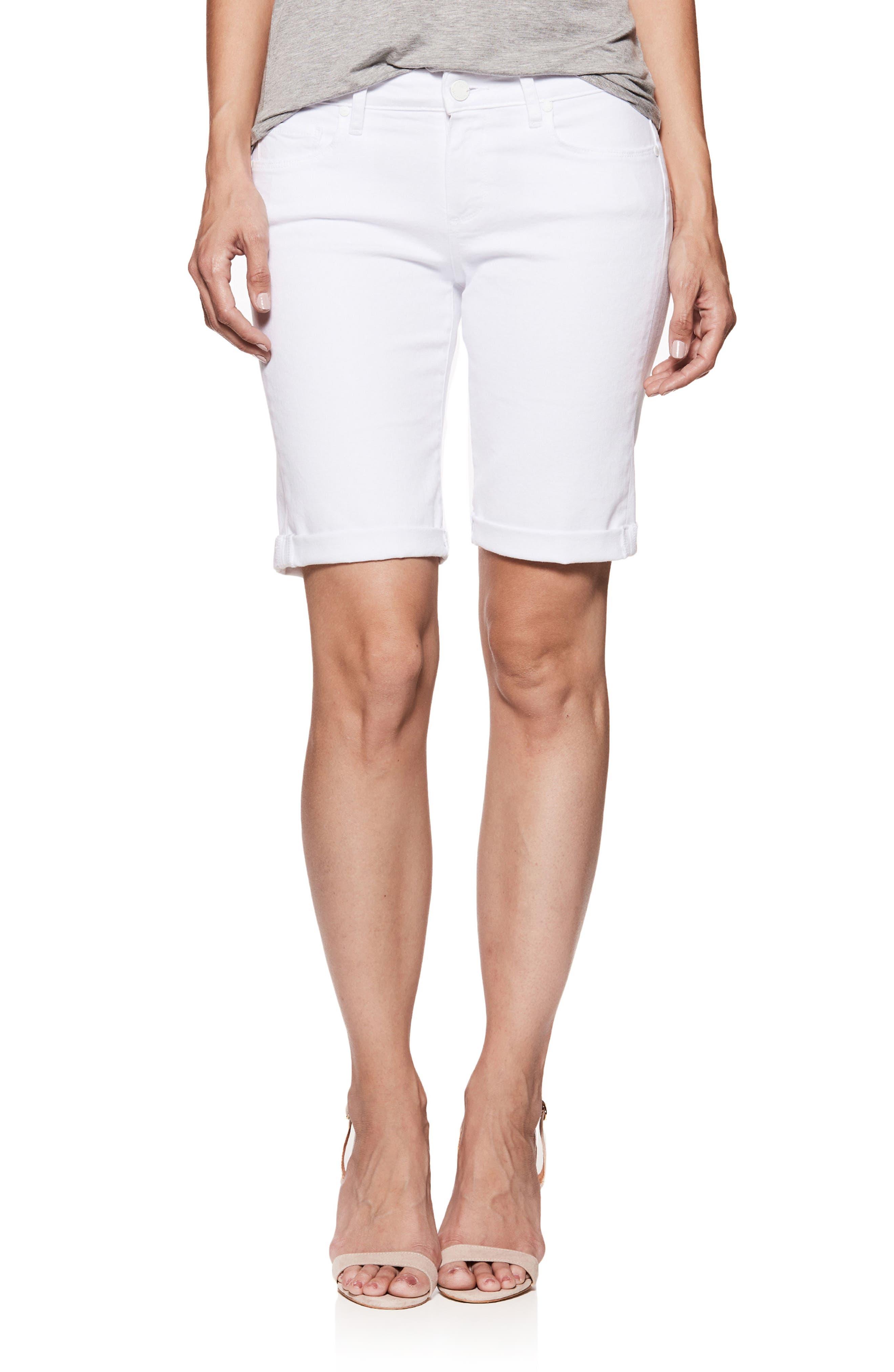Jax Denim Bermuda Shorts,                             Main thumbnail 1, color,                             CRISP WHITE