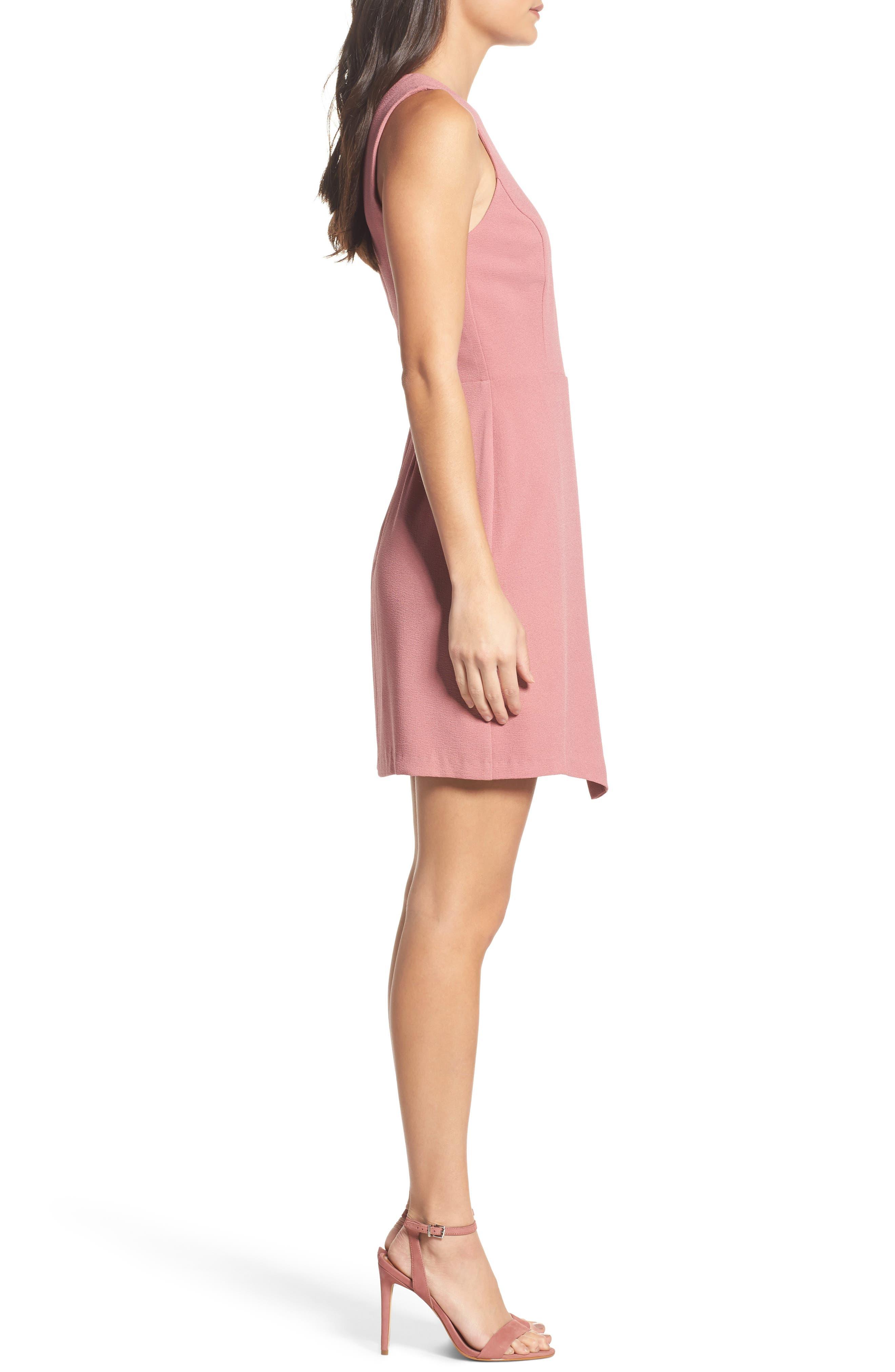 Faux Wrap Dress,                             Alternate thumbnail 3, color,                             533