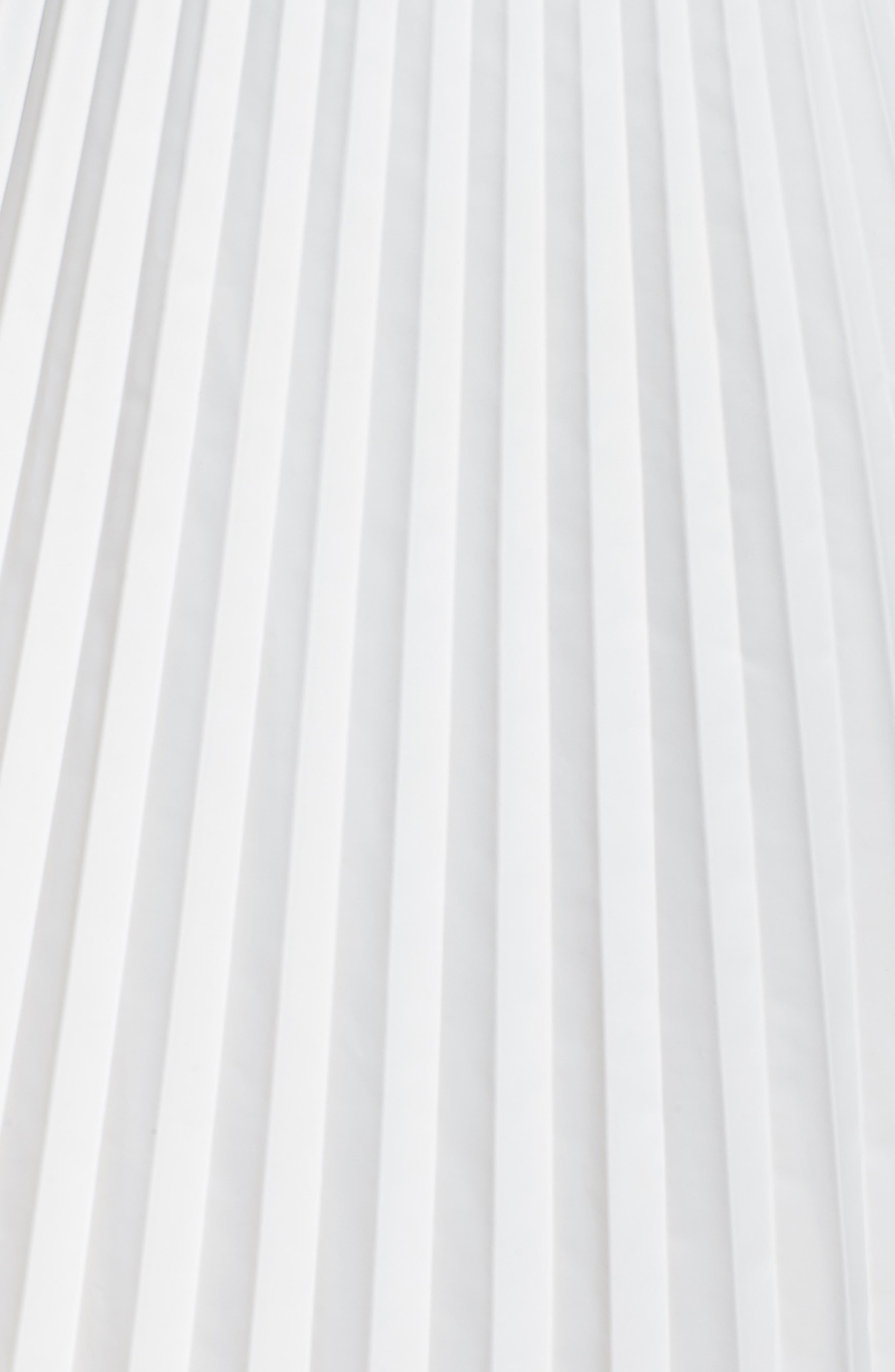 Pleated Long Skirt,                             Alternate thumbnail 5, color,                             100