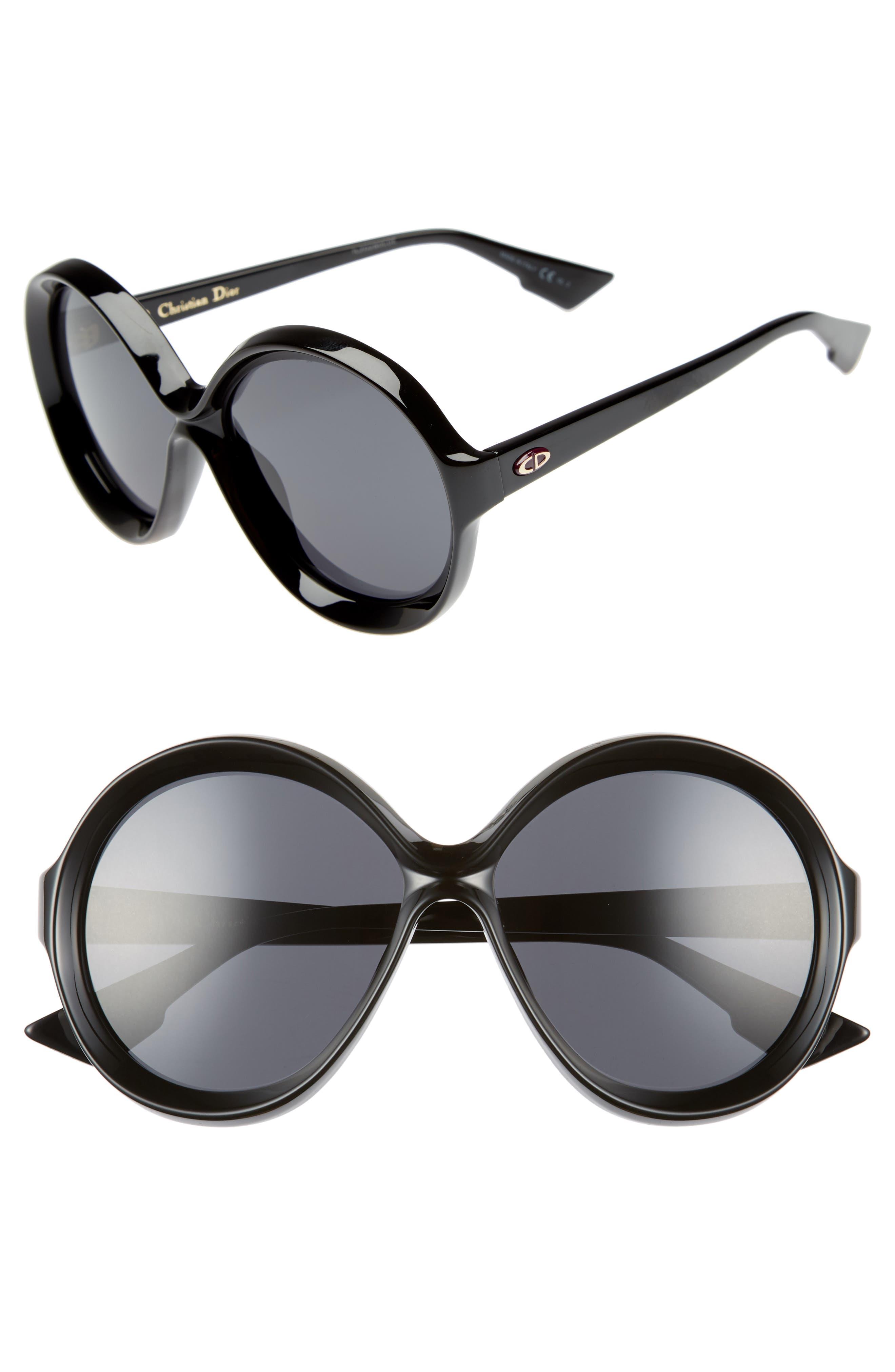 Bianca 58mm Round Sunglasses,                         Main,                         color, 001