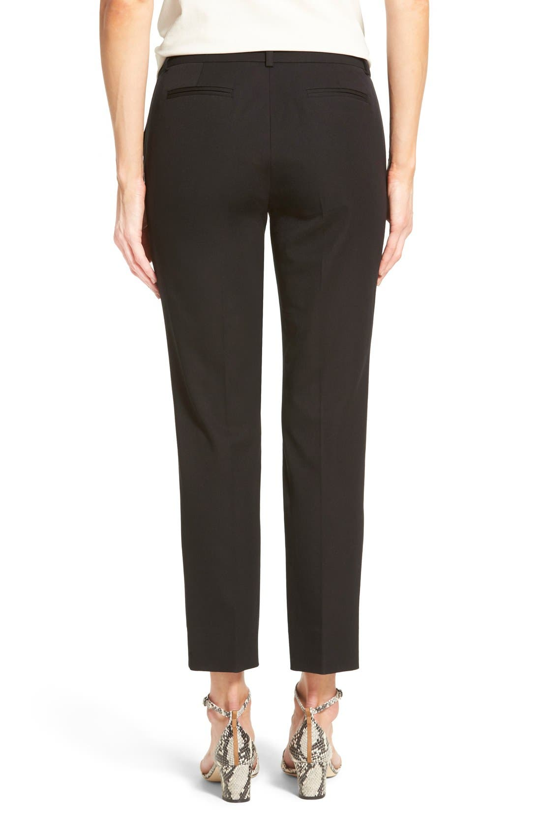 Crop Stretch Cotton Pants,                             Alternate thumbnail 113, color,