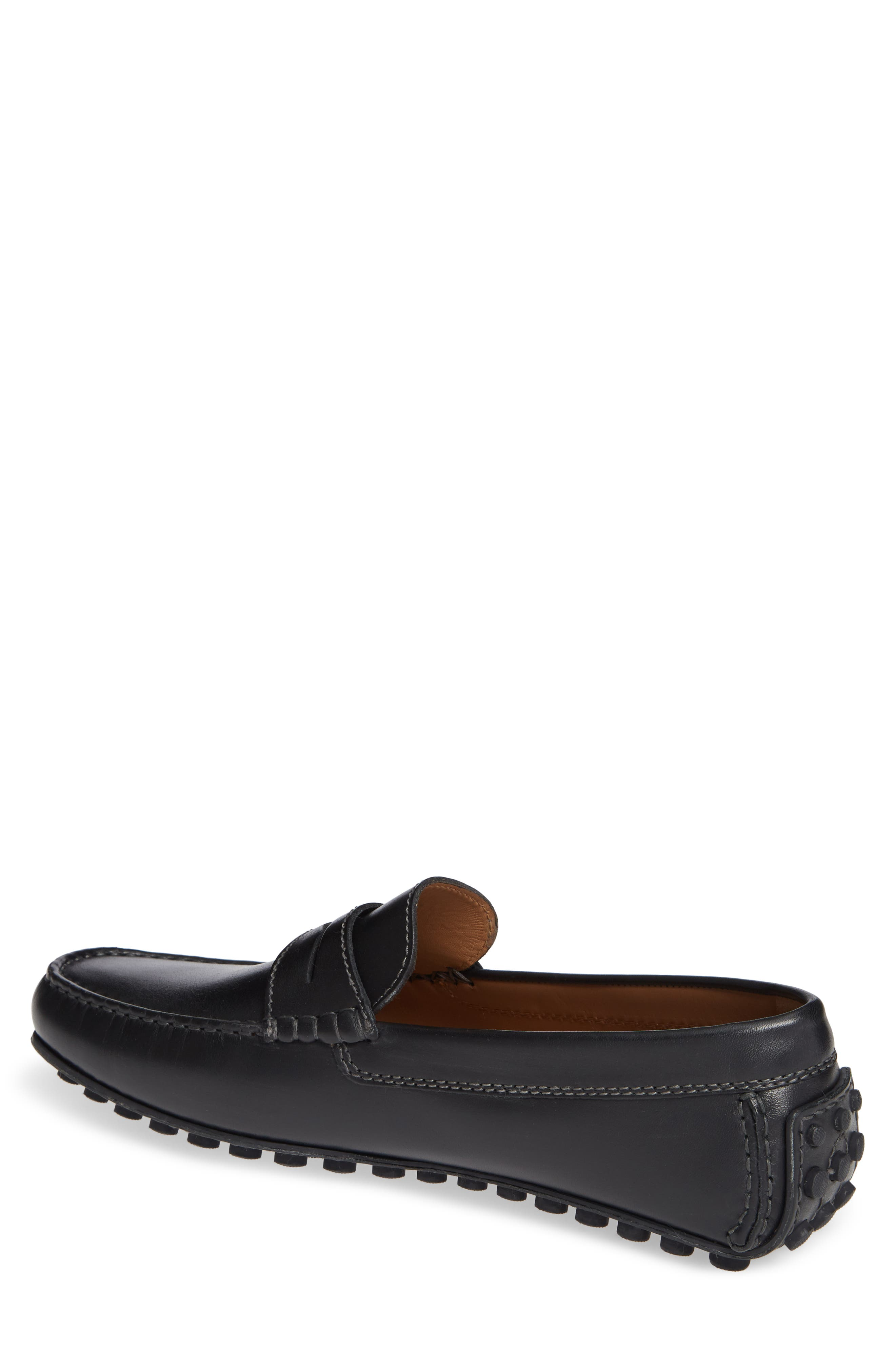 Le Mans Penny Driving Moccasin,                             Alternate thumbnail 2, color,                             BLACK LEATHER