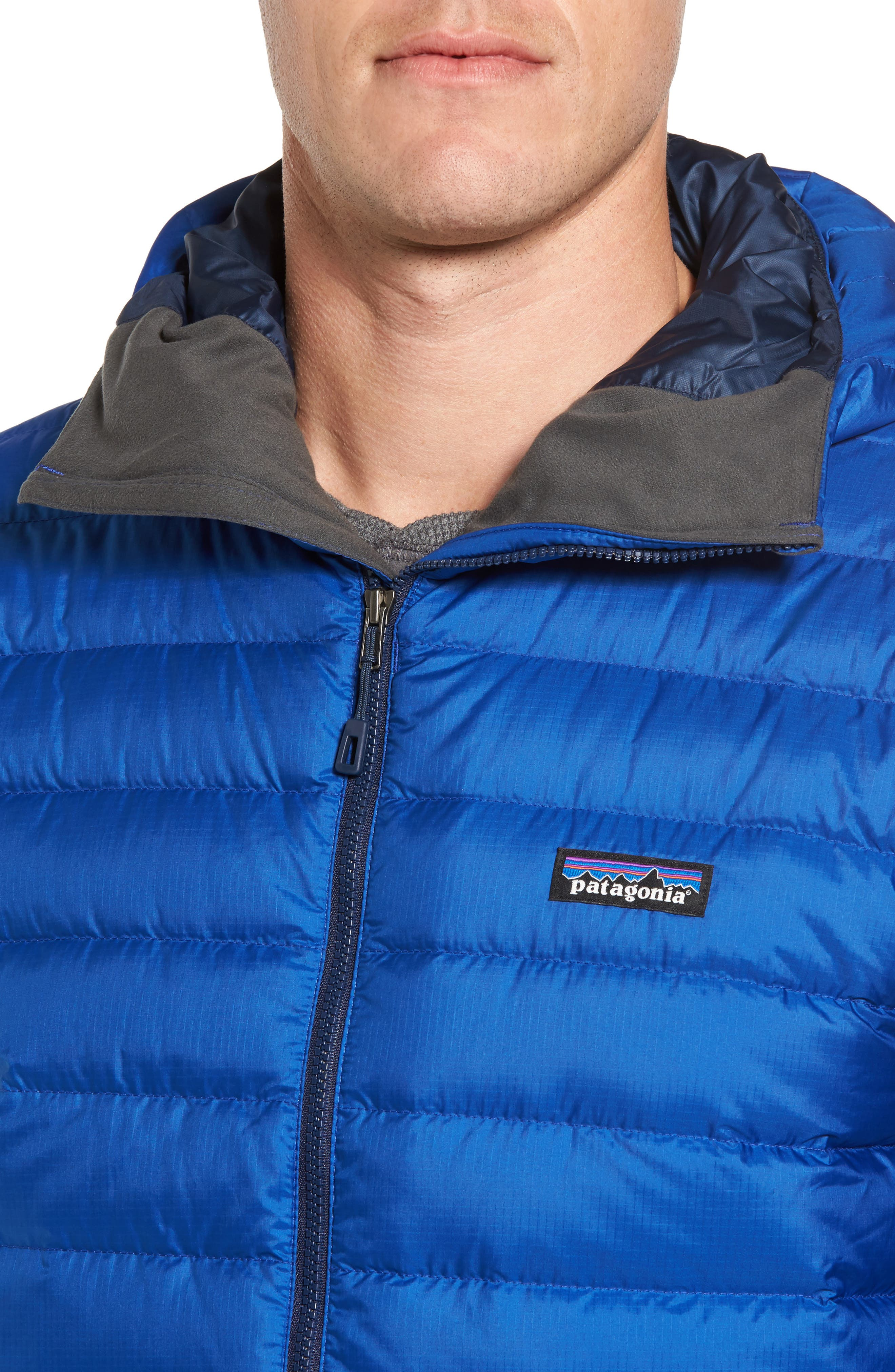Packable Windproof & Water Resistant Goose Down Sweater Hooded Jacket,                             Alternate thumbnail 23, color,