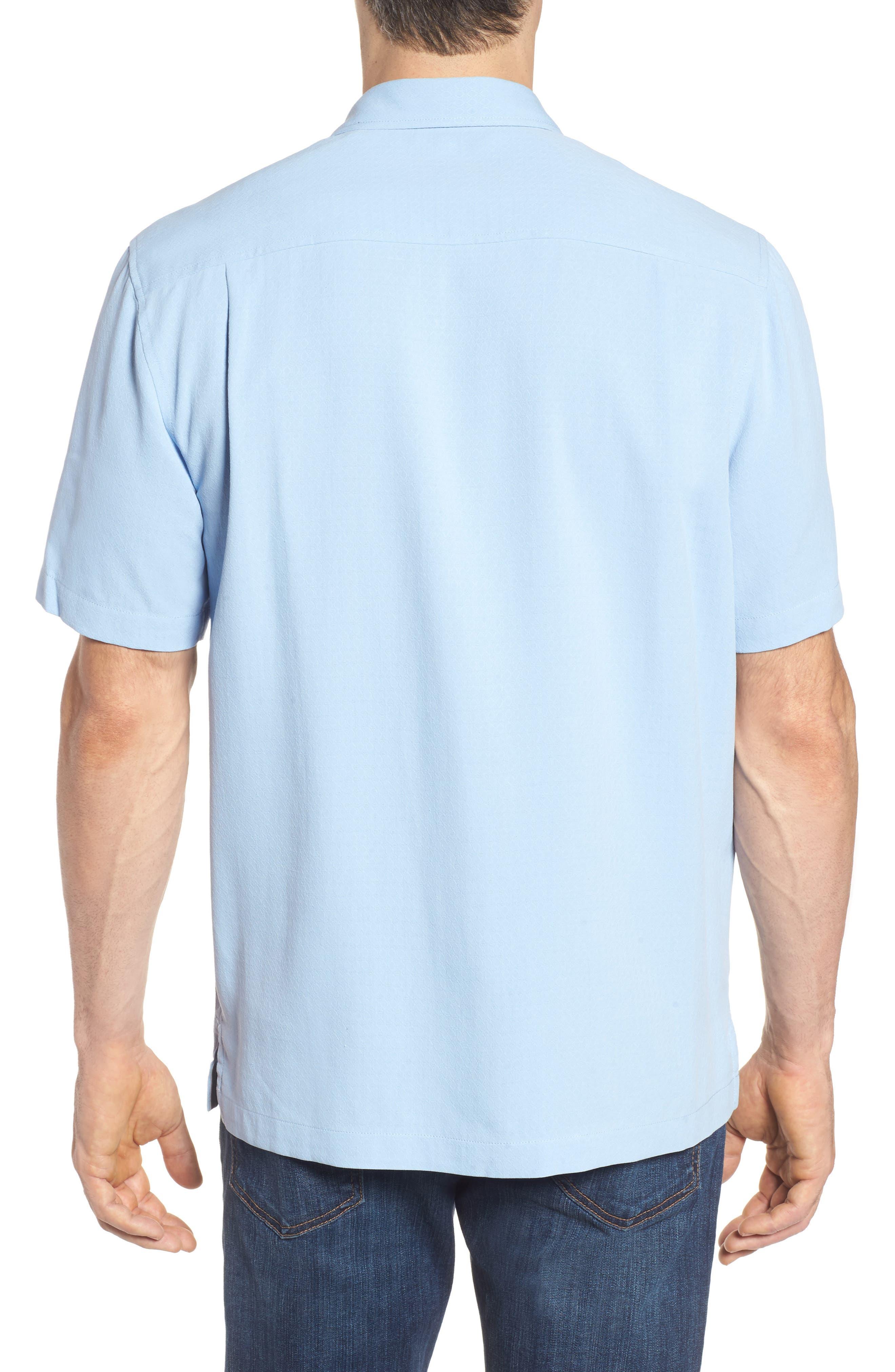 Oasis Jacquard Silk Sport Shirt,                             Alternate thumbnail 2, color,                             400